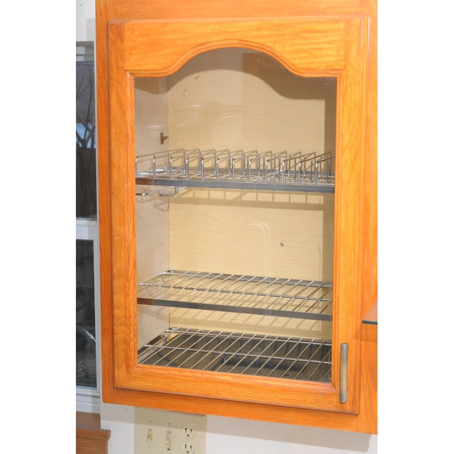Dish Dryer Cabinet ~ Zojila cabana in cabinet dish drying and storage rack