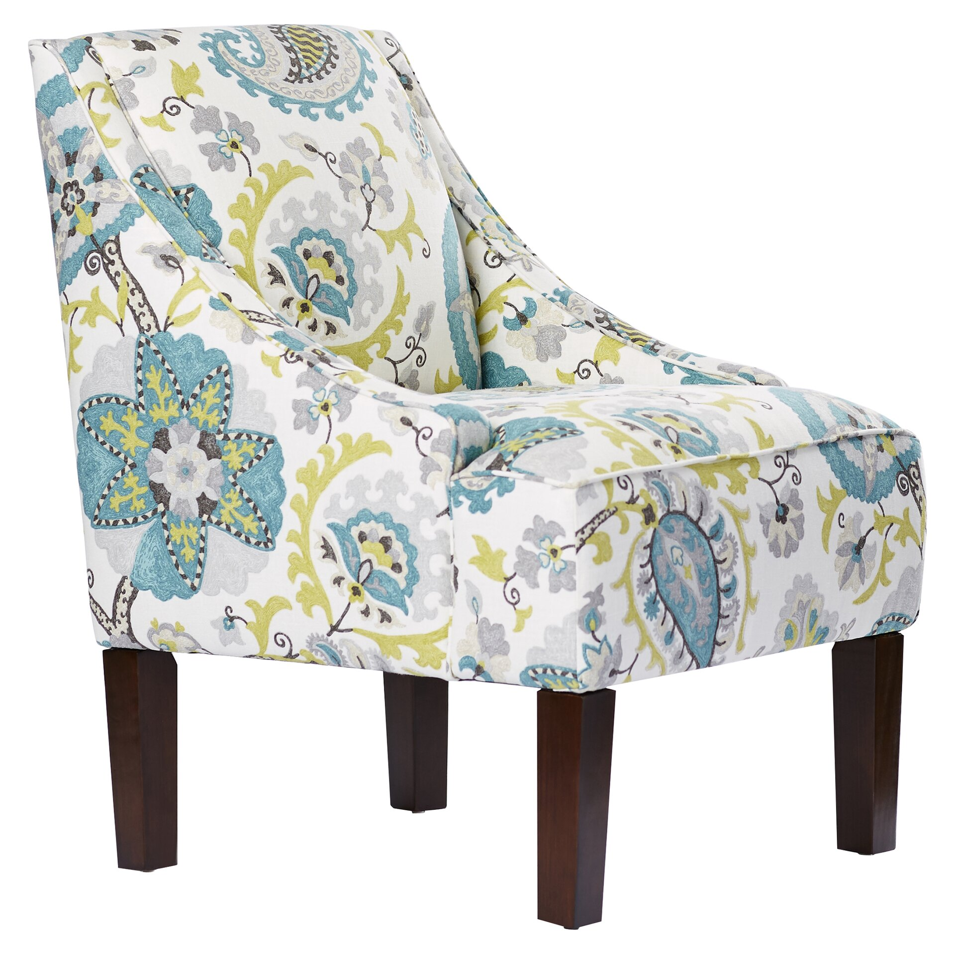 Bungalow Rose Heady Swoop Ladbroke Upholstered Arm Chair ...