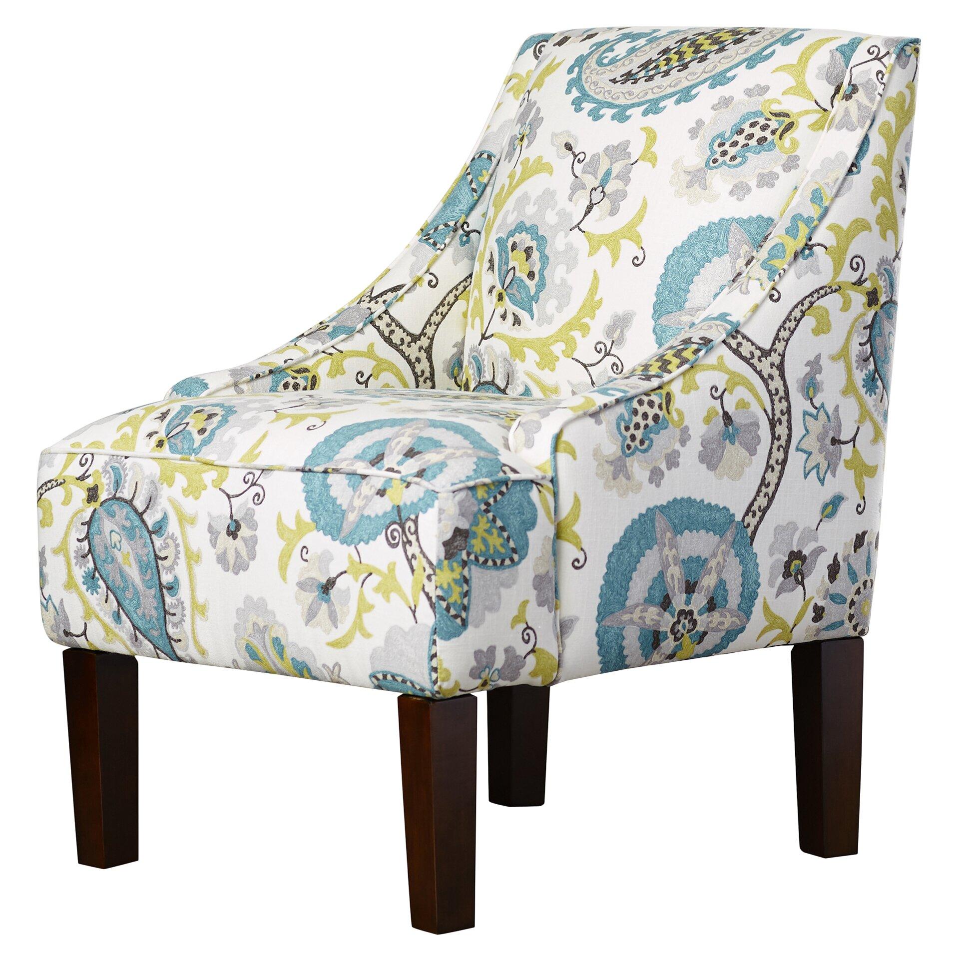 Bungalow Rose Heady Swoop Ladbroke Upholstered Arm Chair