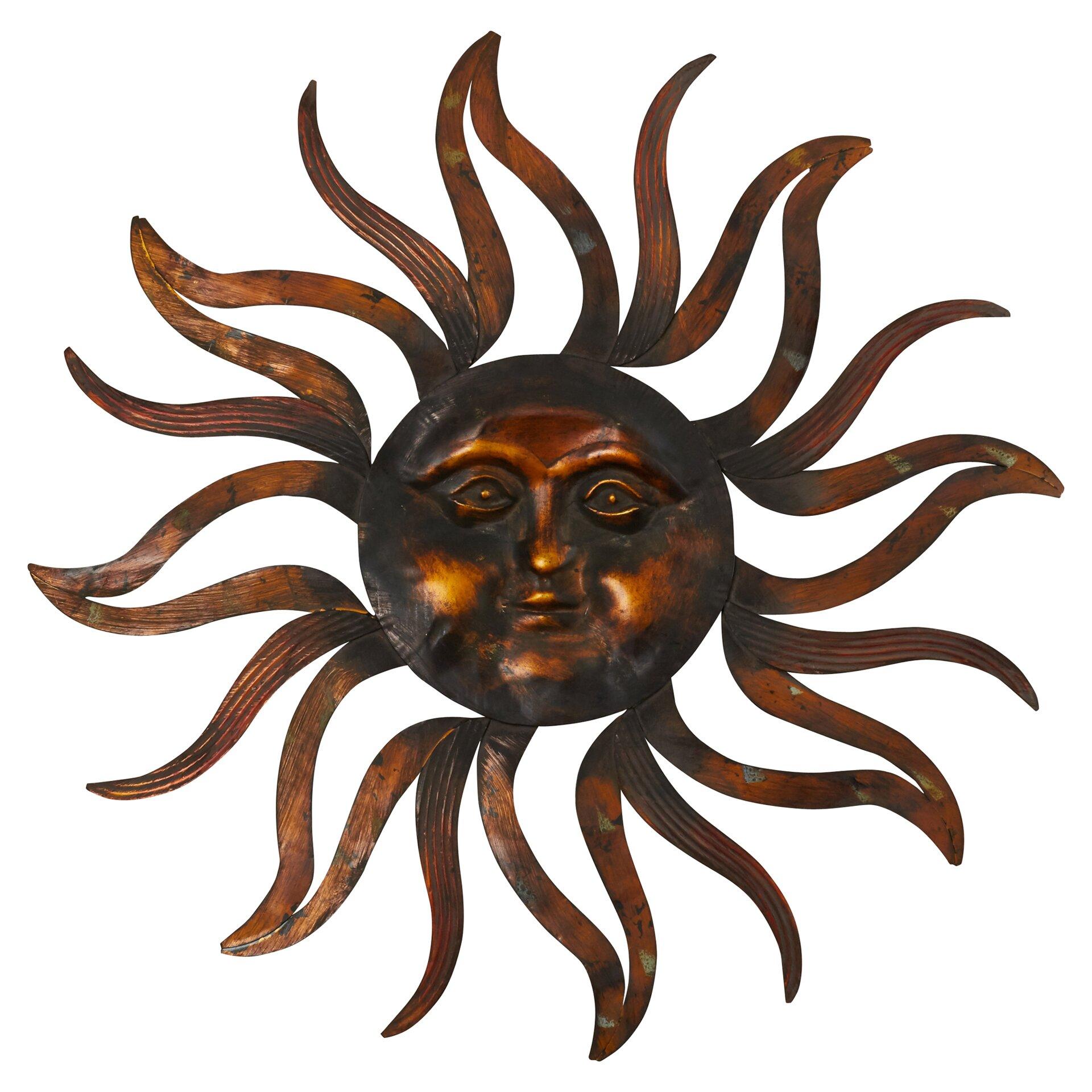 Bungalow Rose Metal Sun Wall D Cor Reviews Wayfair