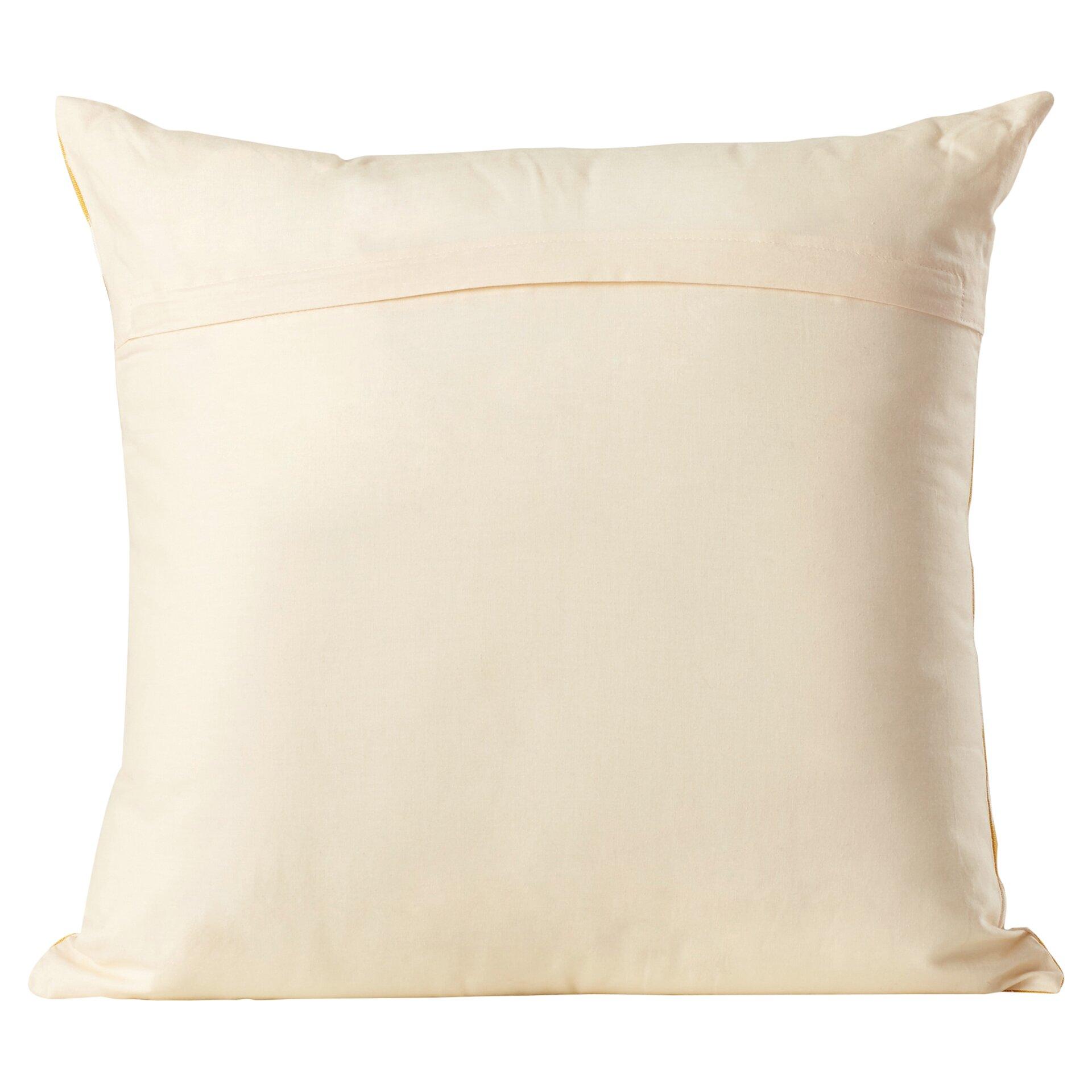 Bungalow Rose Leif Ikat Cotton Throw Pillow & Reviews Wayfair