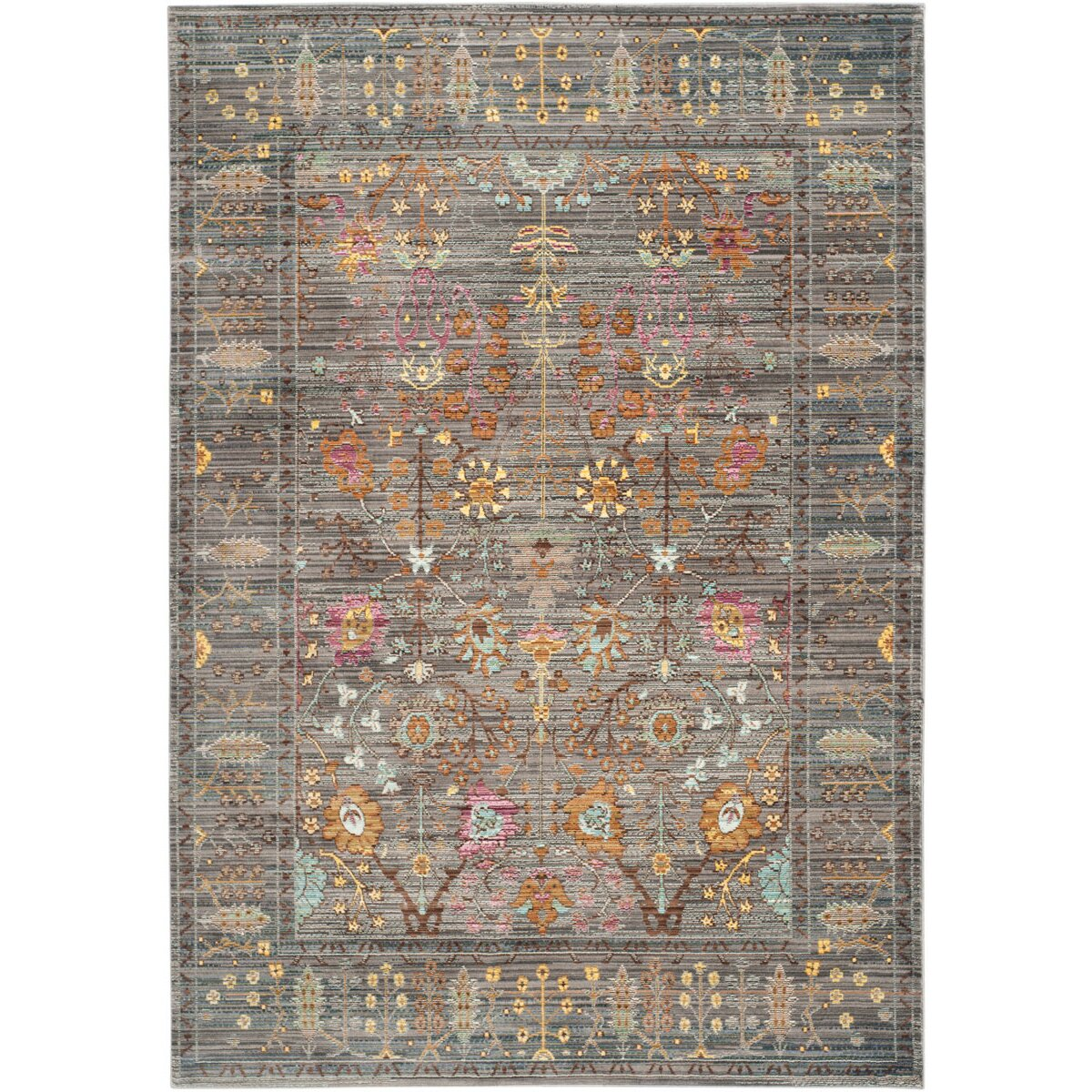Wayfair All Modern: Bungalow Rose Ziraoui Grey Area Rug & Reviews
