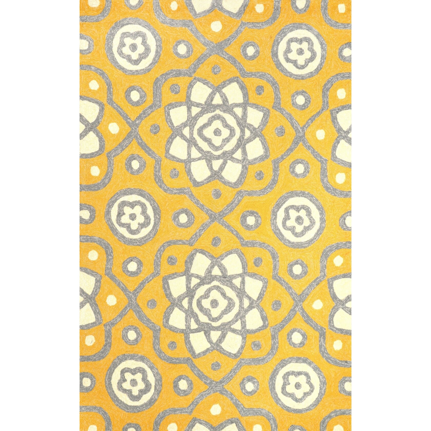 Bungalow Rose Ayer Yellow Outdoor Area Rug & Reviews
