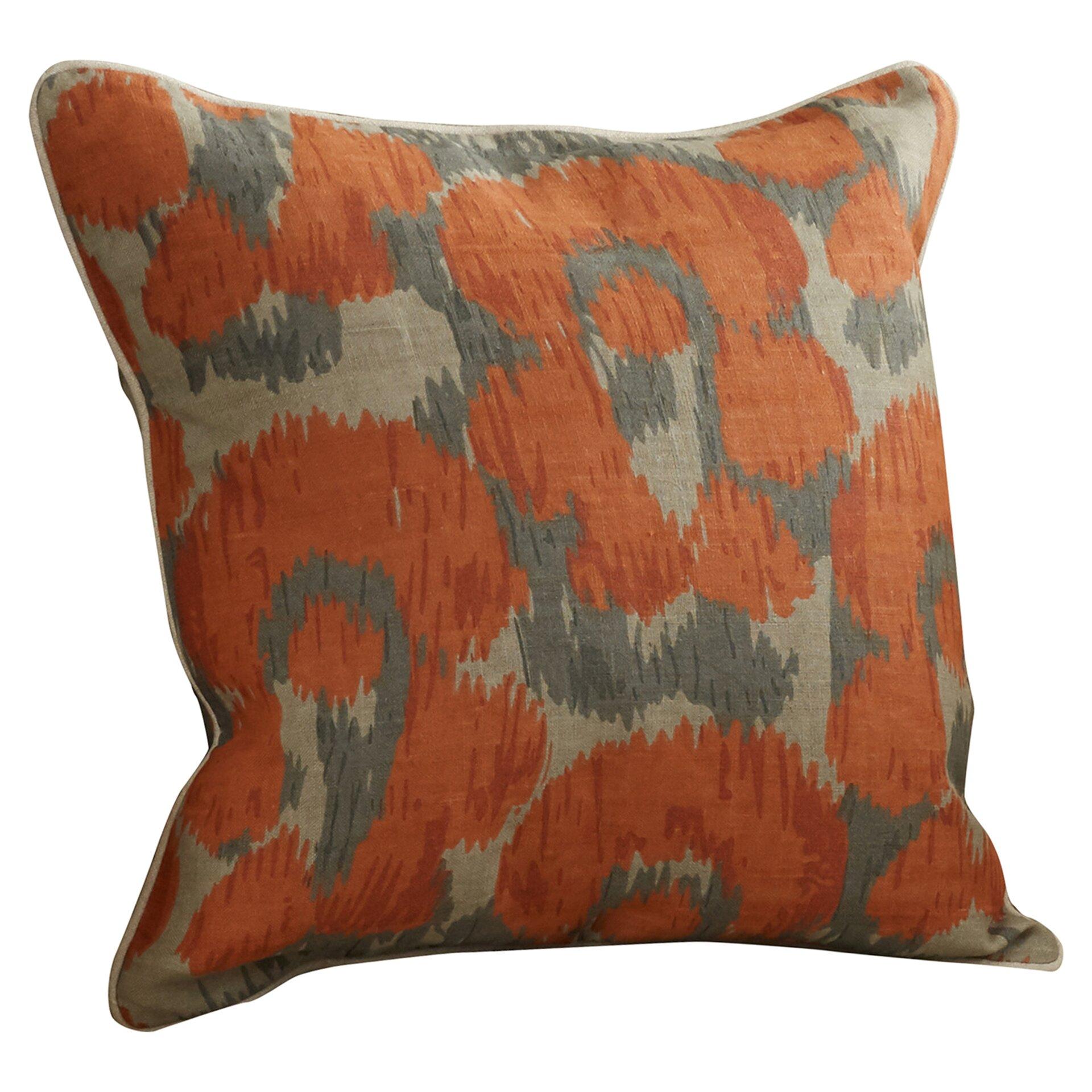 Bungalow Rose Rhiannon Jaguar Print Linen Throw Pillow & Reviews Wayfair
