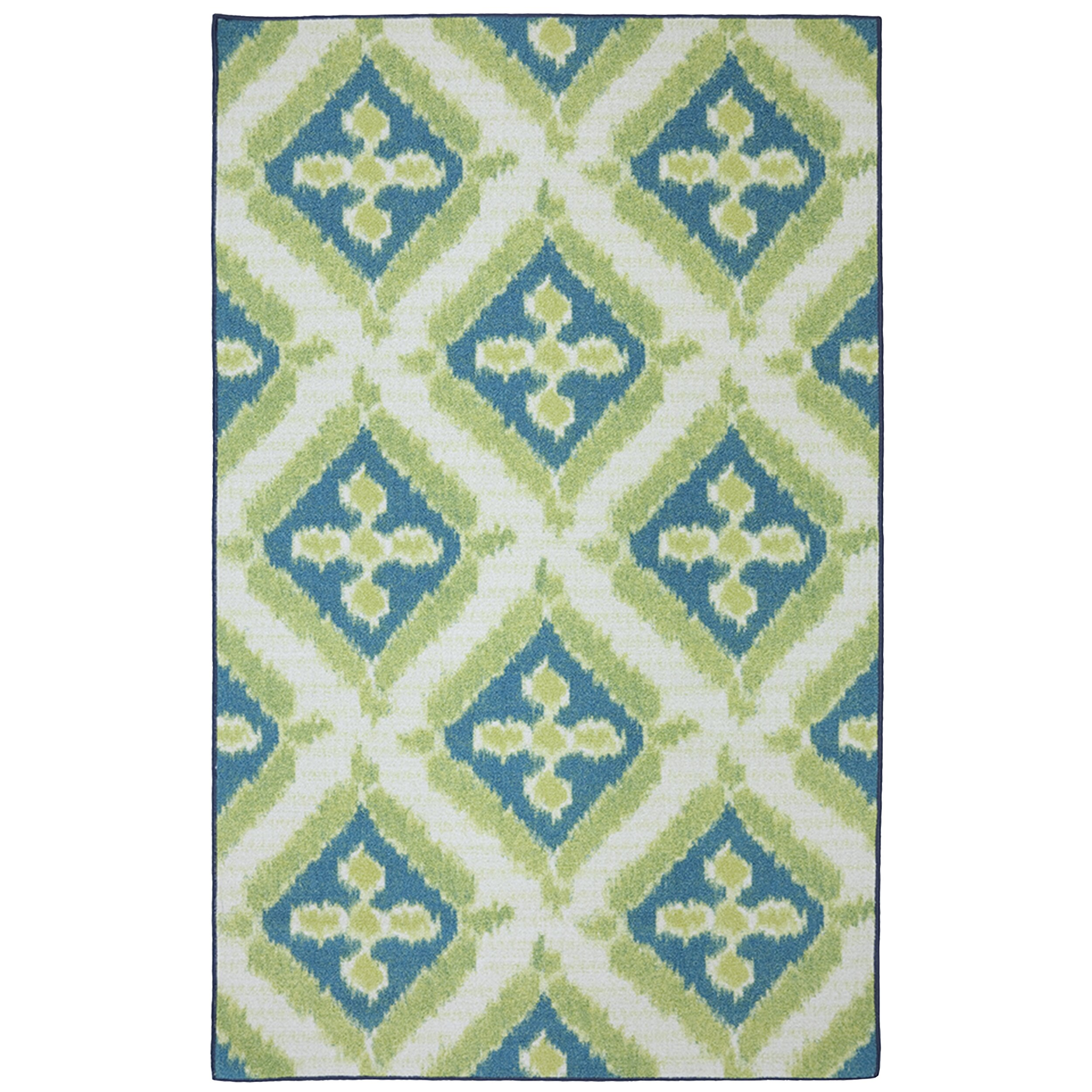 Bungalow rose khtoura green indoor outdoor area rug for Indoor out door rugs