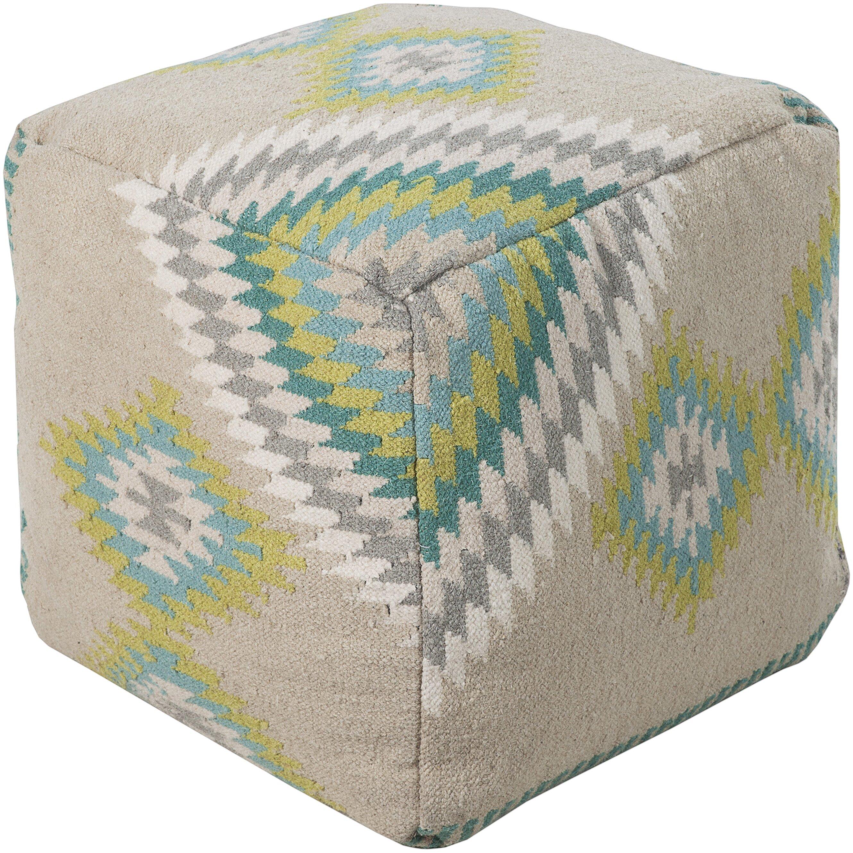 bungalow rose aahana pouf ottoman reviews wayfair. Black Bedroom Furniture Sets. Home Design Ideas