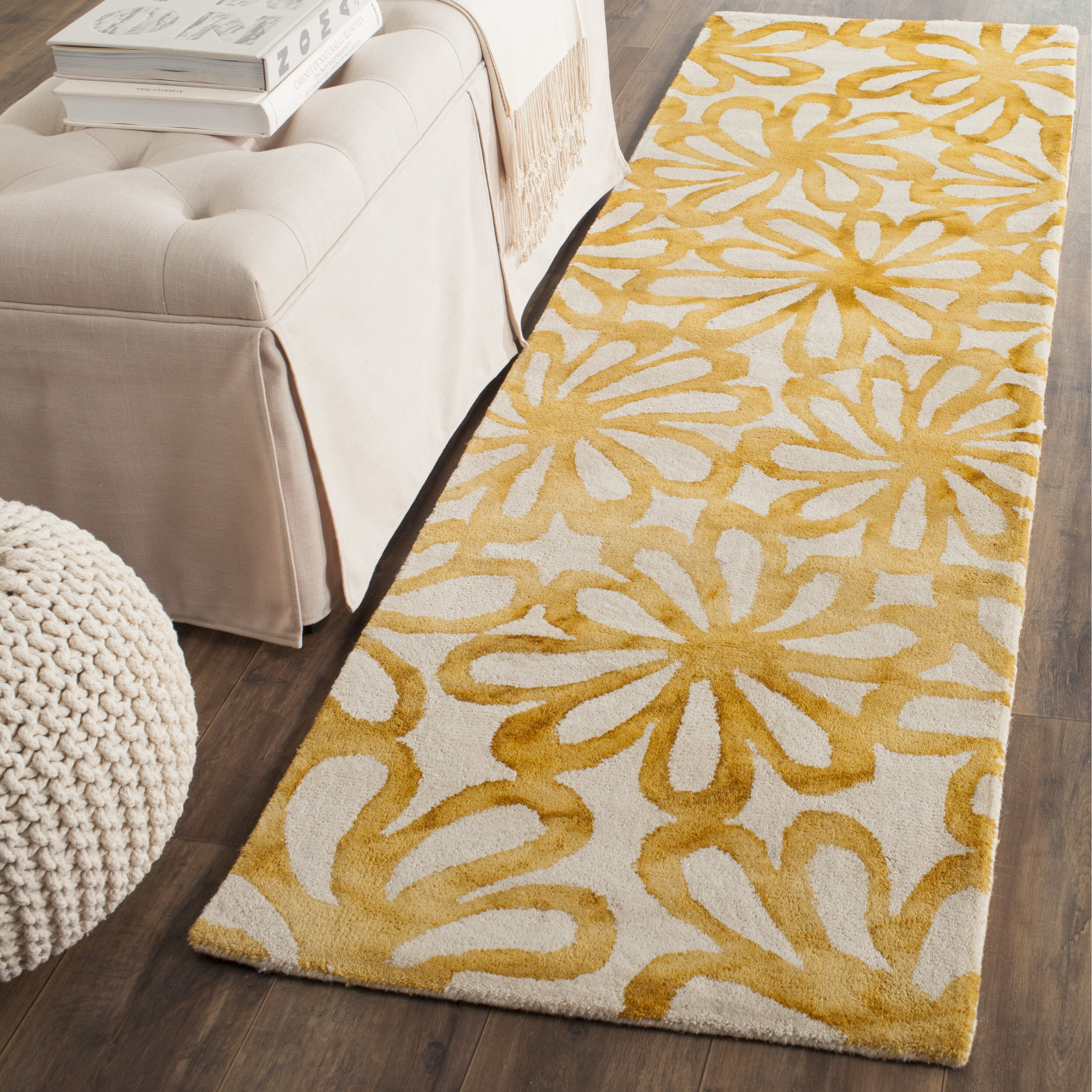 Stella Collection Hand Tufted Area Rug In Beige Light: Bungalow Rose Hand-Tufted Beige & Gold Area Rug & Reviews