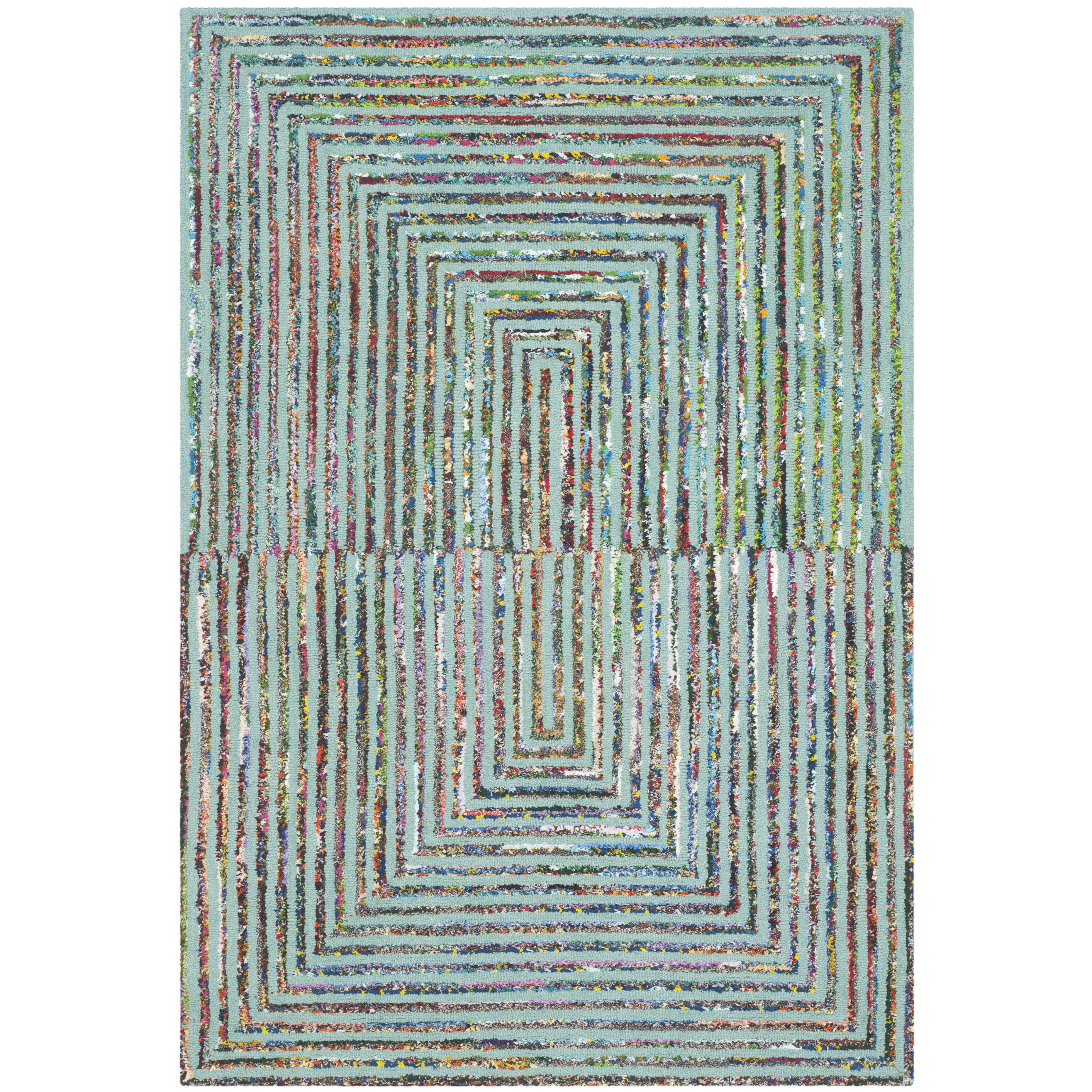 Bungalow Rose Hand-Tufted Teal Area Rug