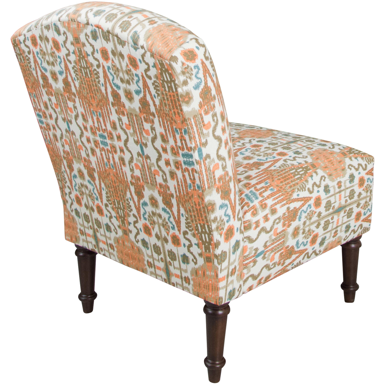 Bungalow rose ikat bombay camel back slipper chair for Slipper chair