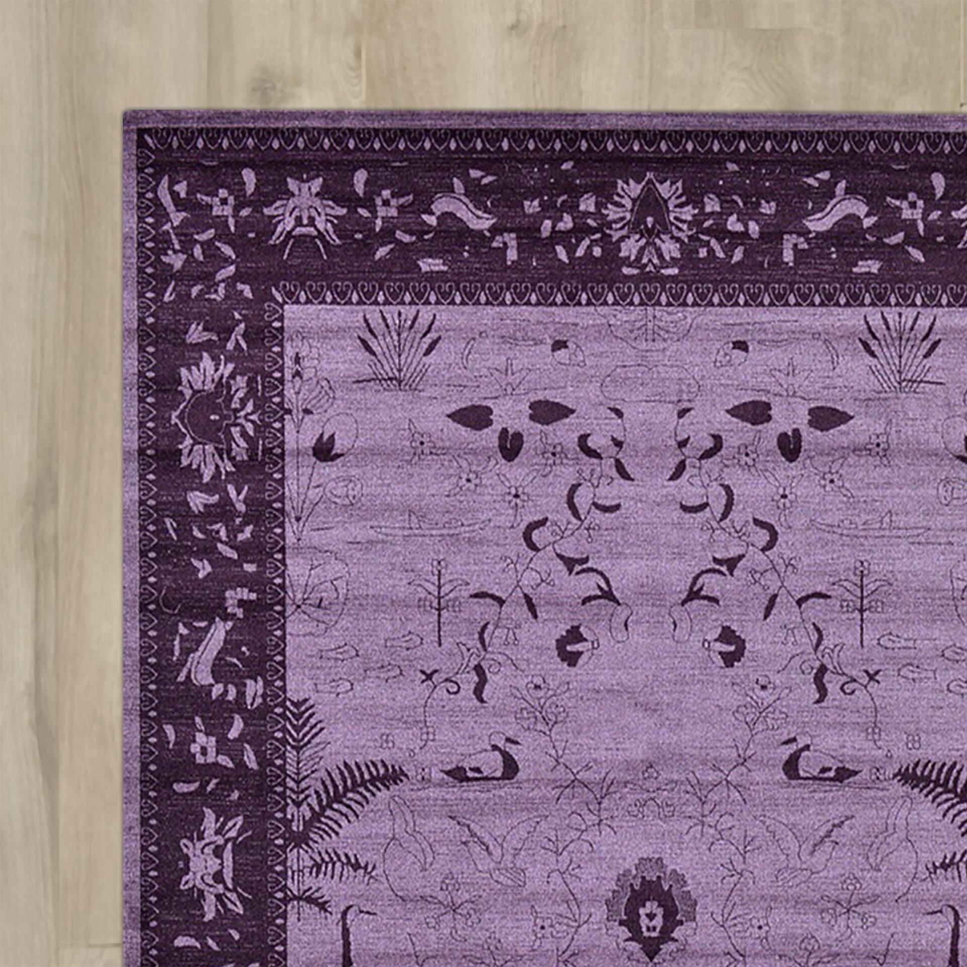 Bungalow Rose Imperial Purple Area Rug Amp Reviews Wayfair