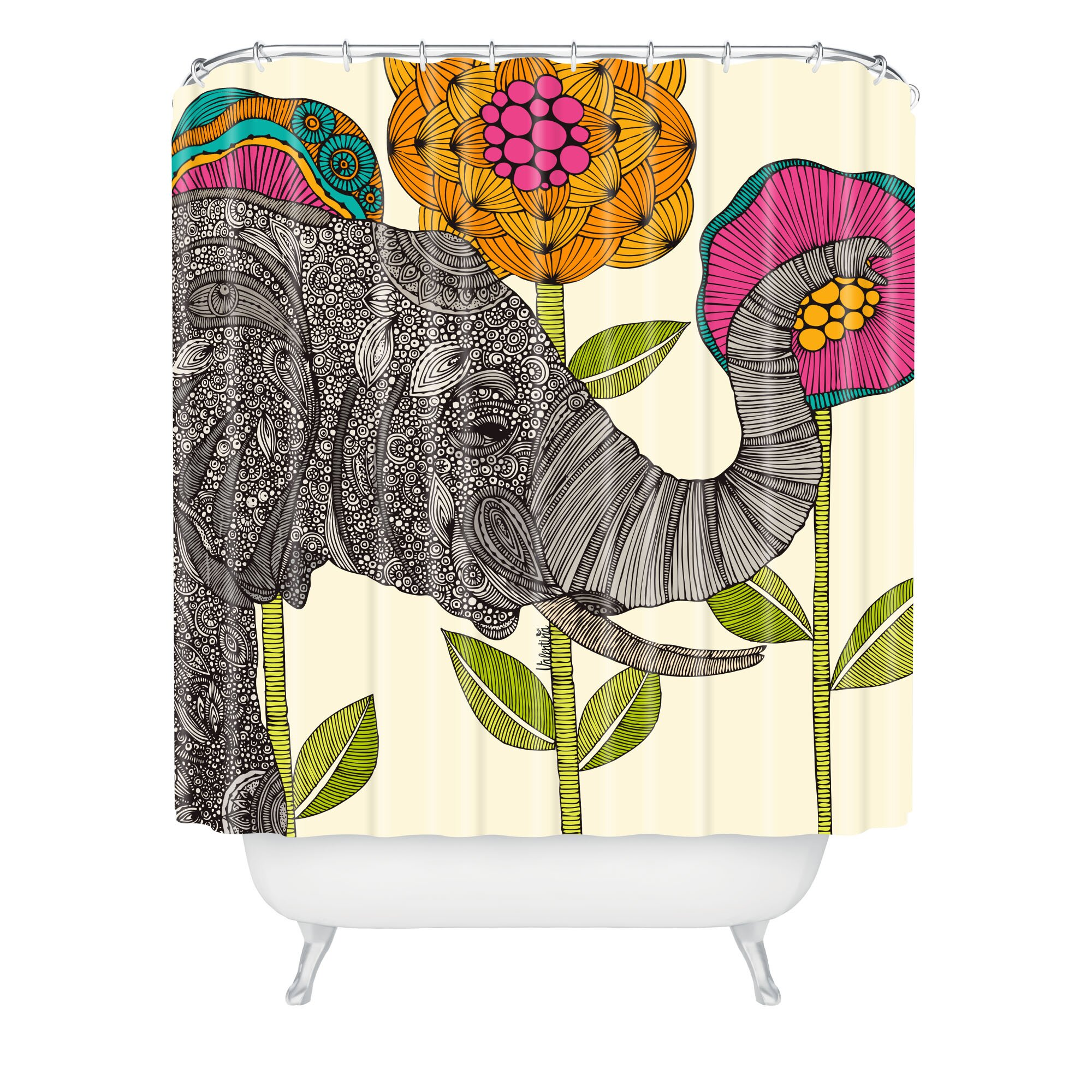 Bungalow Rose Deepak Aaron Shower Curtain & Reviews | Wayfair