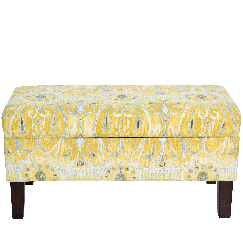 Bungalow Rose Navya Wood Storage Bedroom Bench Reviews: Bungalow Rose Normandie Cotton Upholstered Storage Bedroom