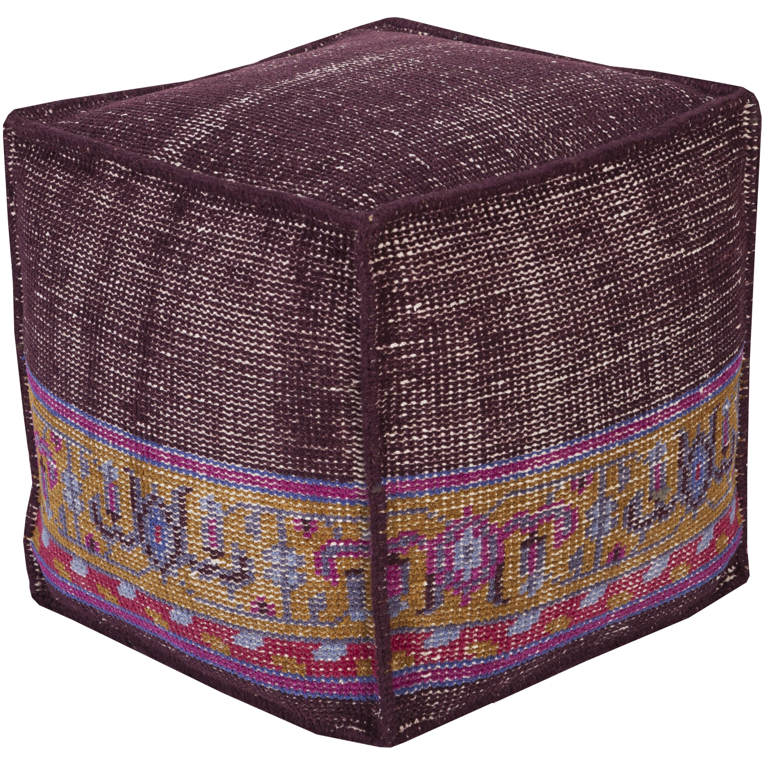 bungalow rose leander cube pouf ottoman reviews wayfair. Black Bedroom Furniture Sets. Home Design Ideas