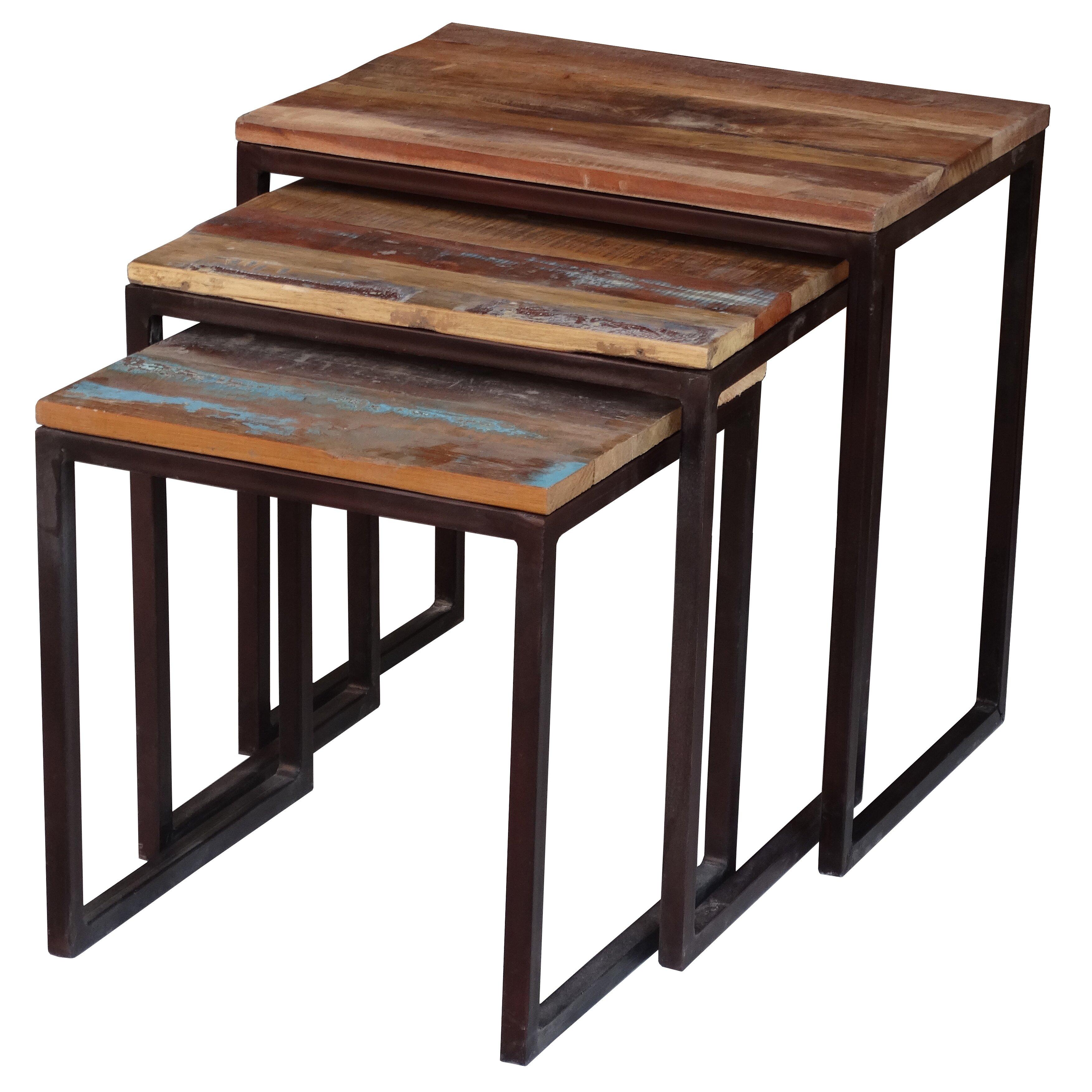 bungalow rose zara 3 piece nesting tables reviews wayfair. Black Bedroom Furniture Sets. Home Design Ideas