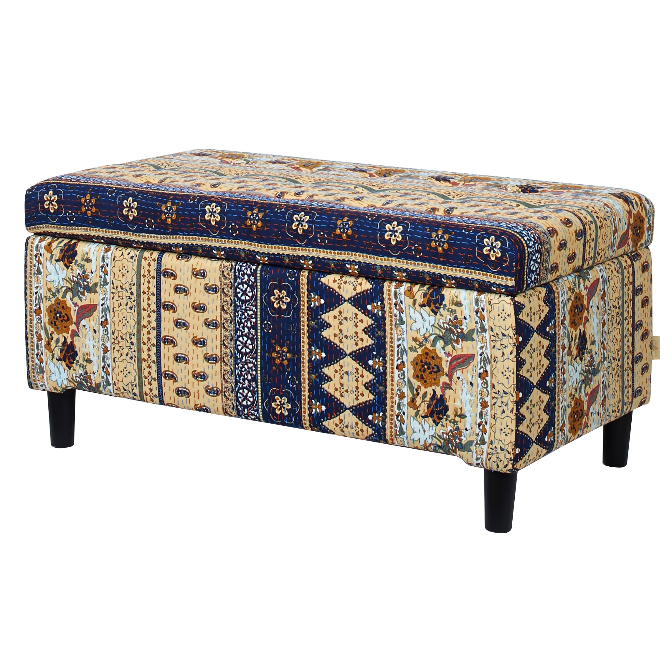 Upholstered Foyer Bench : Bungalow rose astral upholstered storage entryway bench