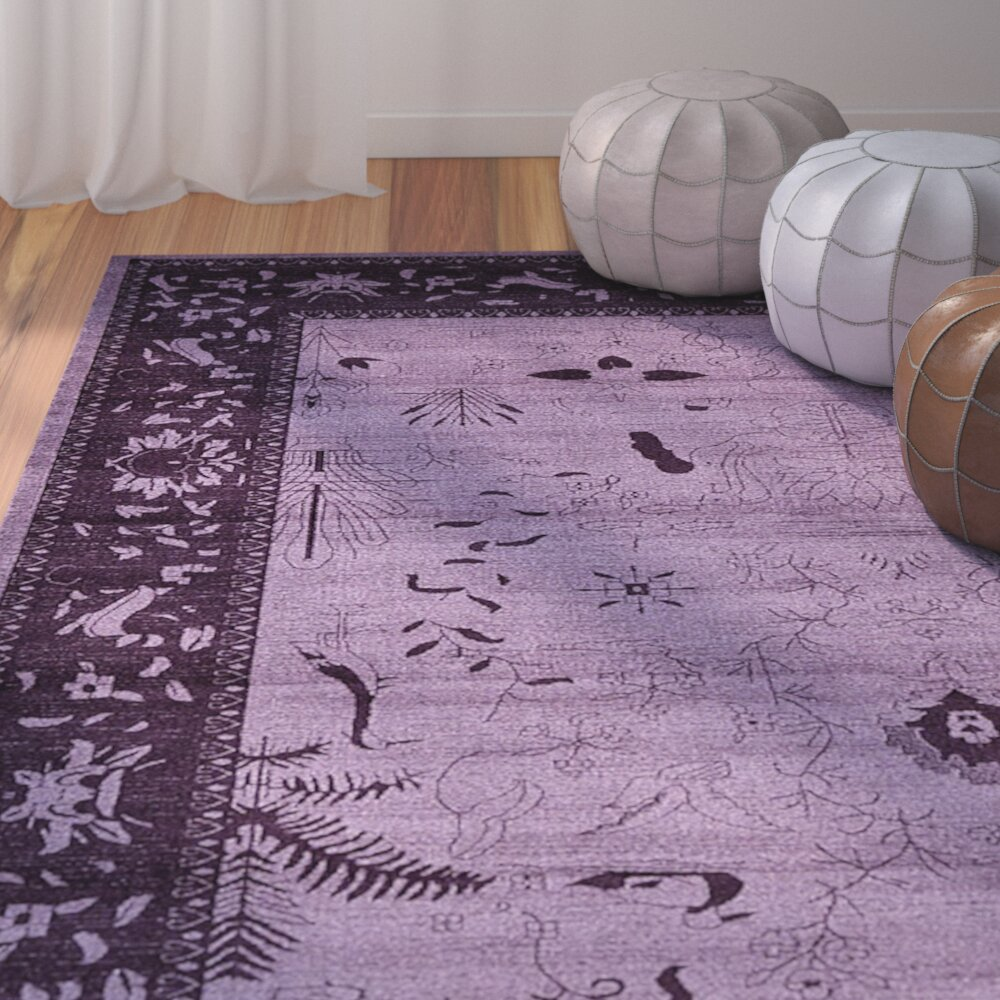 Bungalow Rose Imperial Purple Area Rug Amp Reviews Wayfair