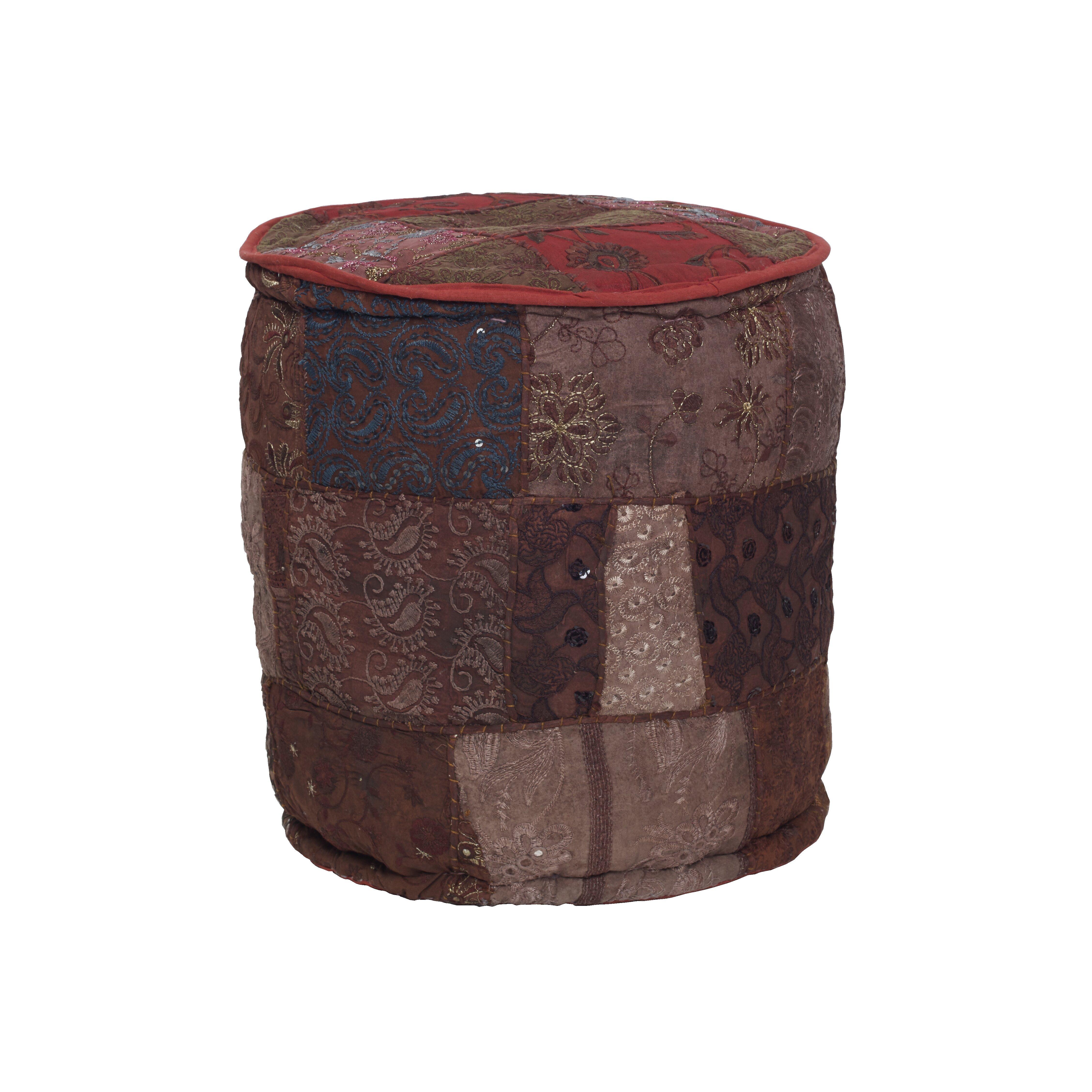 bungalow rose atlantis round pouf reviews wayfair. Black Bedroom Furniture Sets. Home Design Ideas