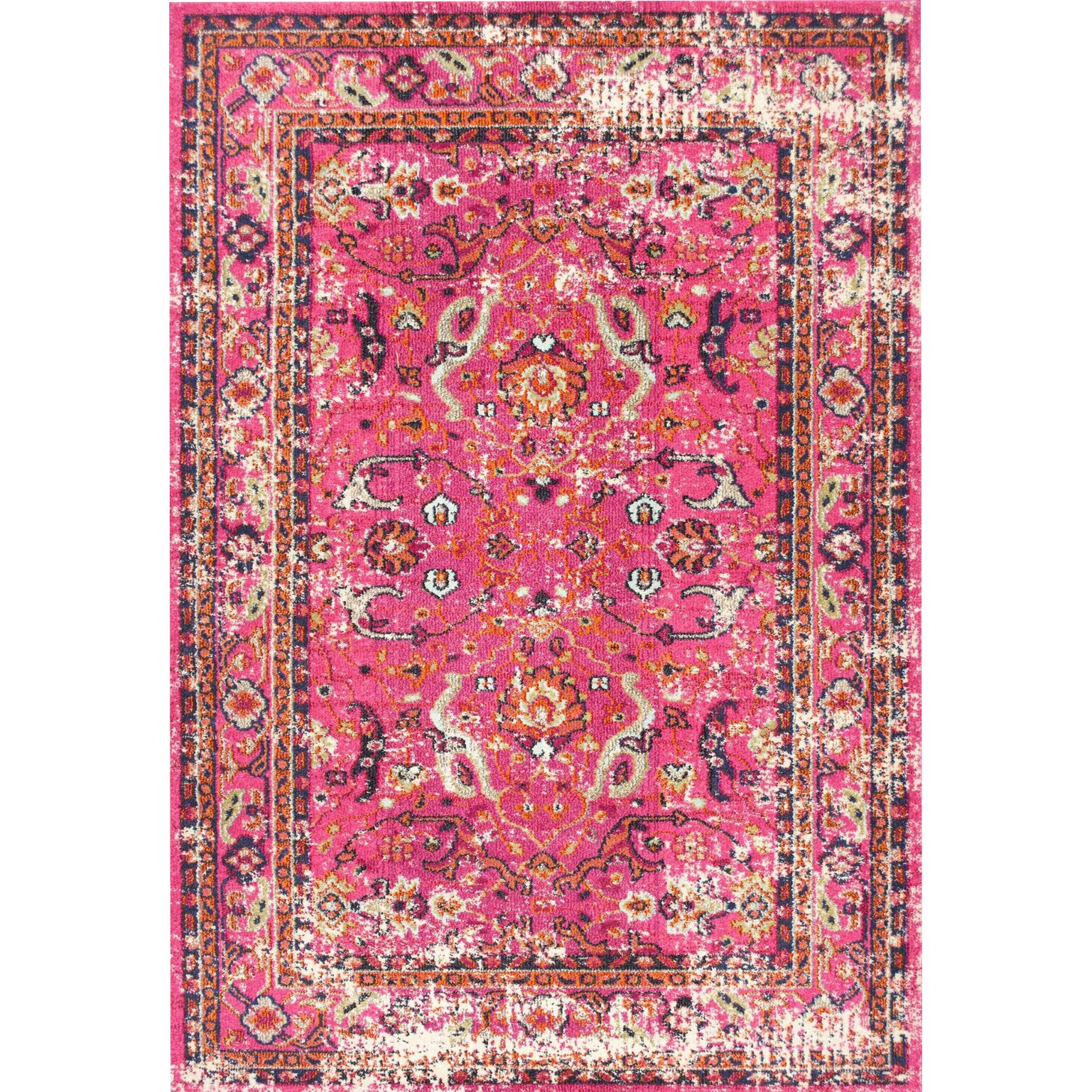 Bungalow Rose Hyer Pink Area Rug & Reviews