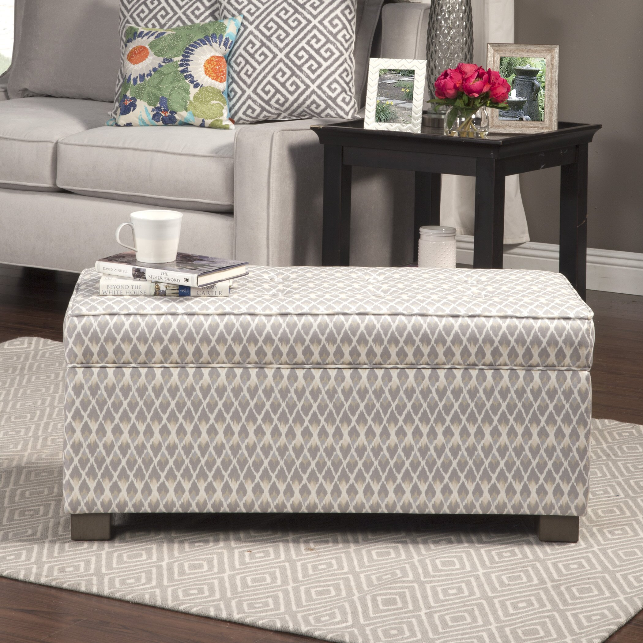 Bungalow Rose Navya Wood Storage Bedroom Bench Reviews: Bungalow Rose Mumtaz Upholstered Decorative Storage