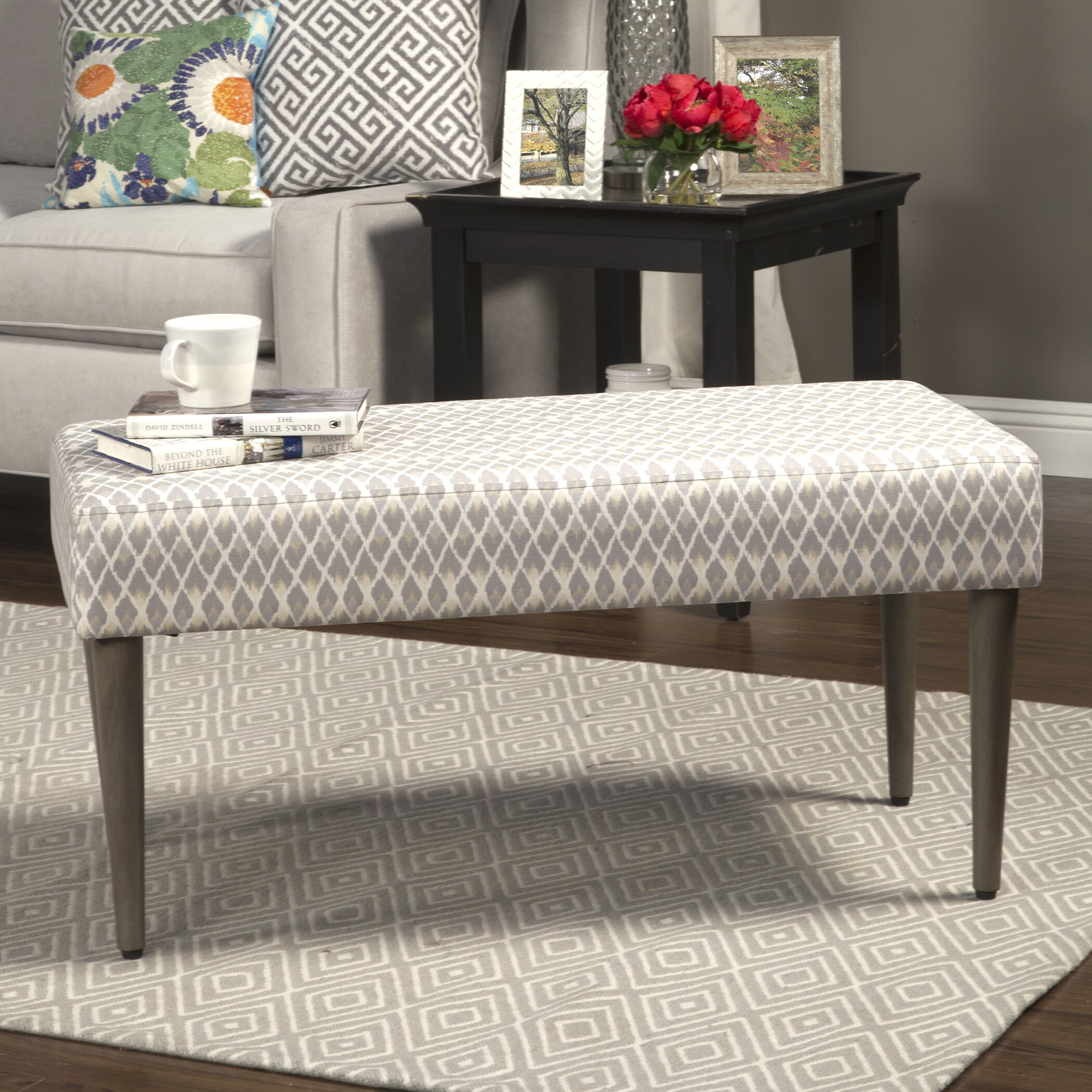 Bungalow Rose Navya Wood Storage Bedroom Bench Reviews: Bungalow Rose Nadir Upholstered Bedroom Bench & Reviews