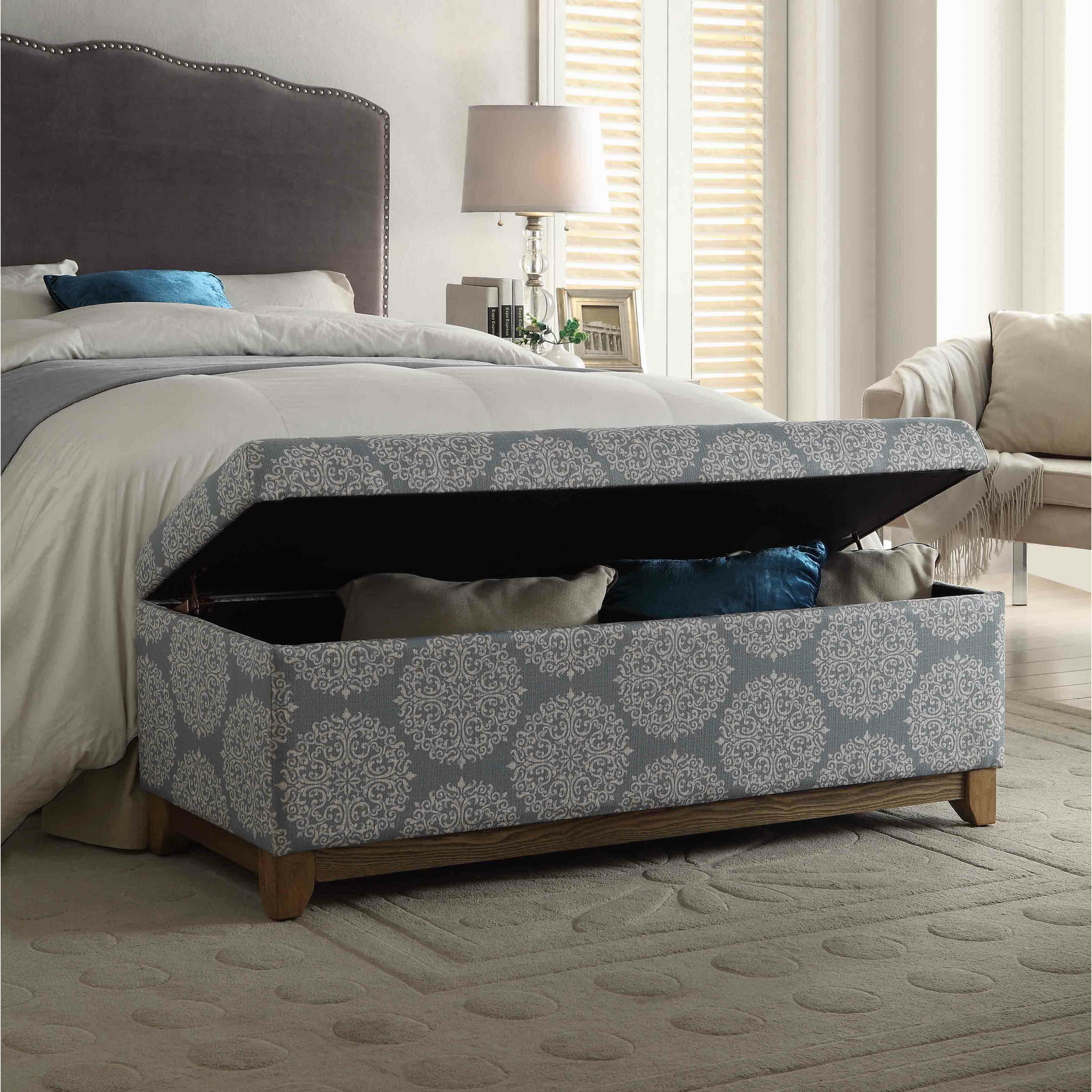 Bungalow Rose Navya Wood Storage Bedroom Bench Reviews