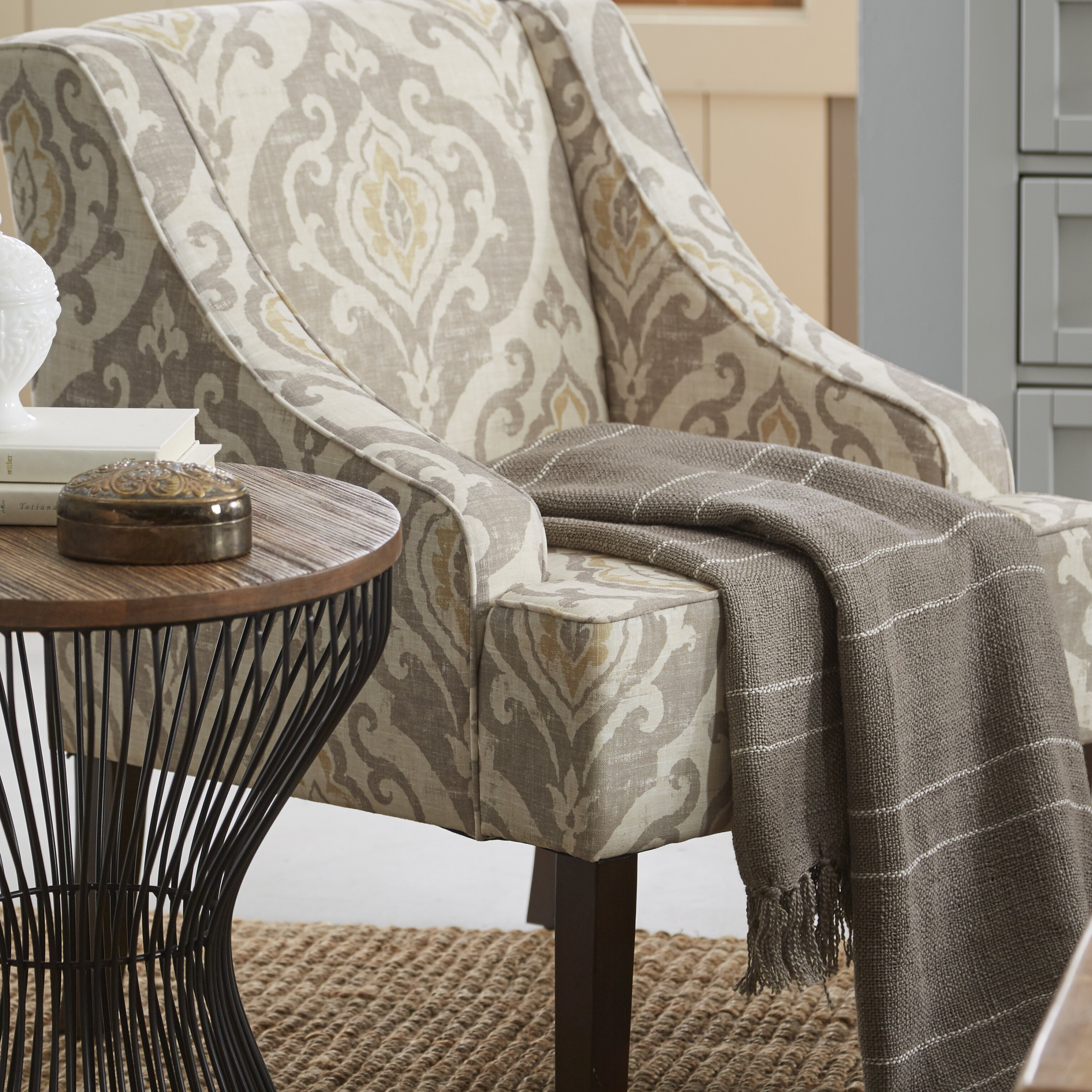 Bungalow Rose Mumtaz Swoop Armchair & Reviews | Wayfair