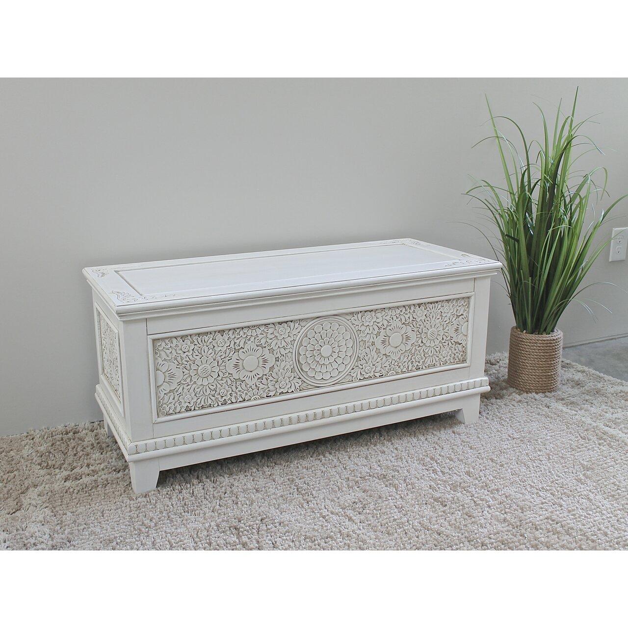 Bungalow Rose Navya Wood Storage Bedroom Bench Reviews: Bungalow Rose Moreira Wood Trunk & Reviews