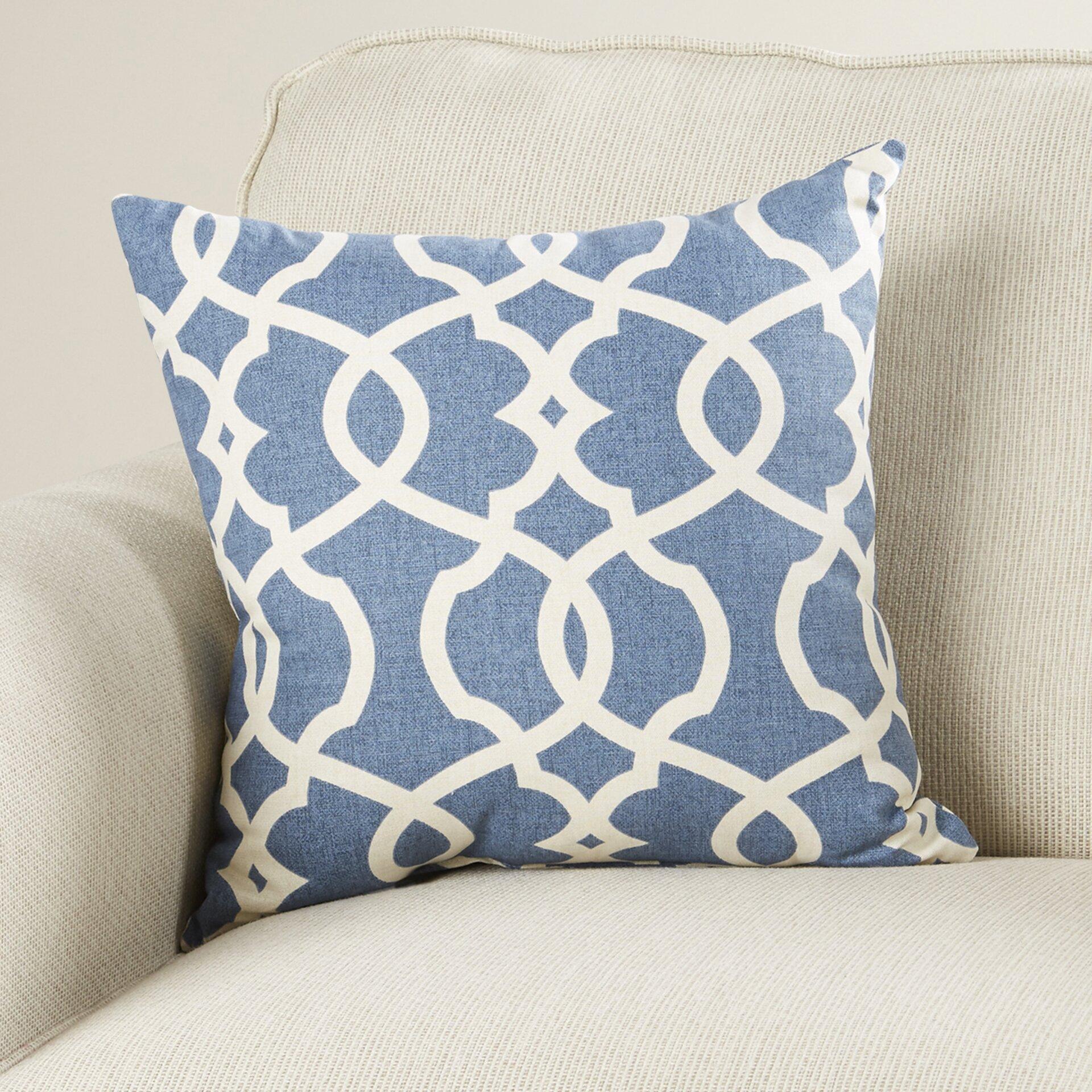 Throw Pillows Damask : Bungalow Rose Alberts Damask Cotton Throw Pillow & Reviews Wayfair
