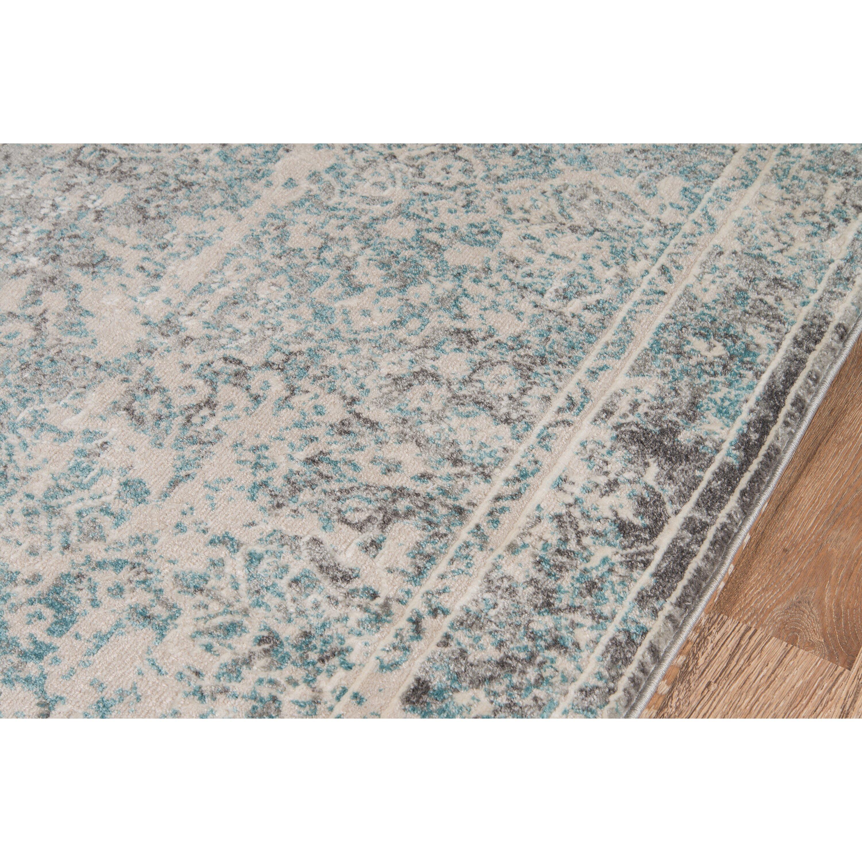 bungalow rose daisie turquoise area rug reviews wayfair