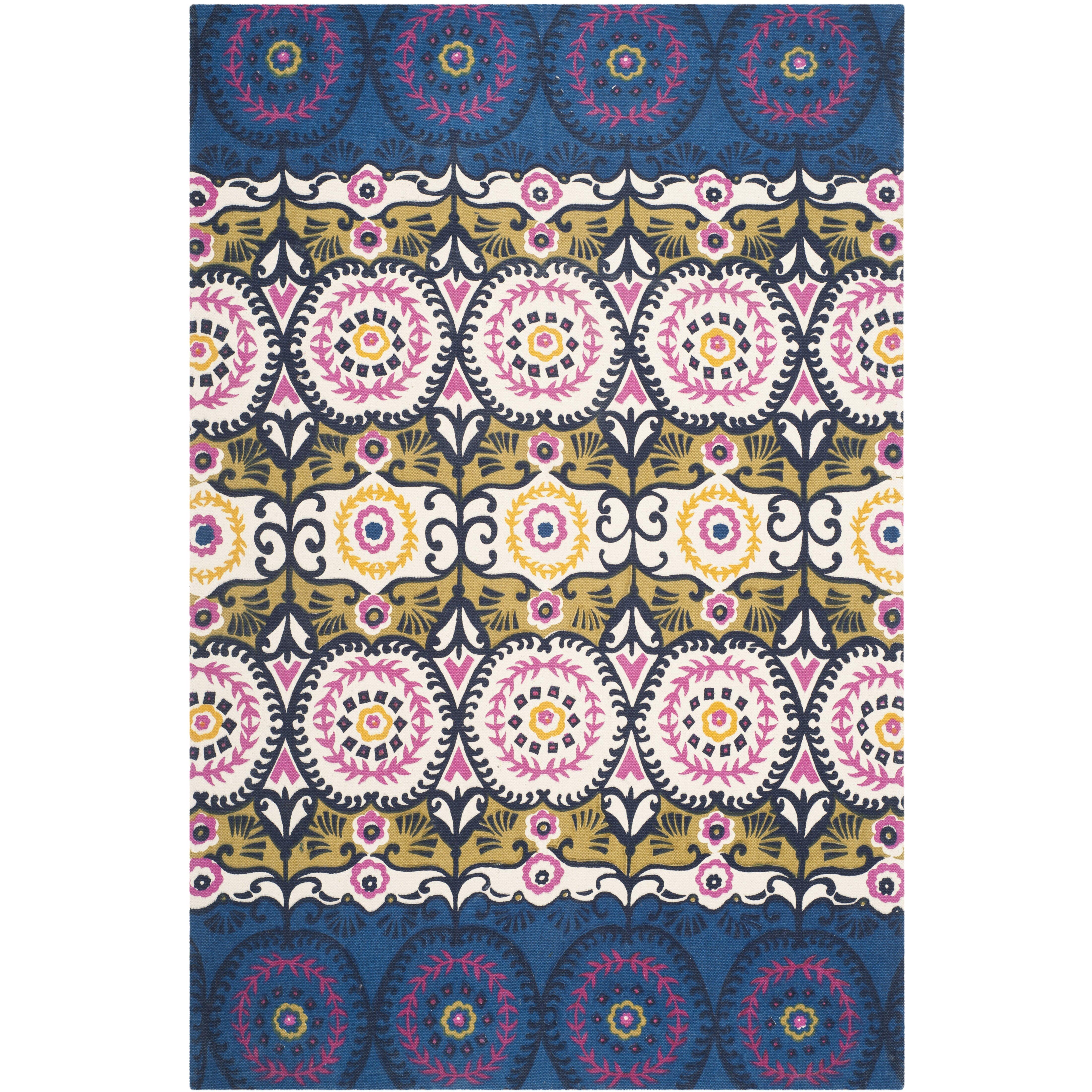 bungalow rose allison blue pink area rug reviews wayfair. Black Bedroom Furniture Sets. Home Design Ideas