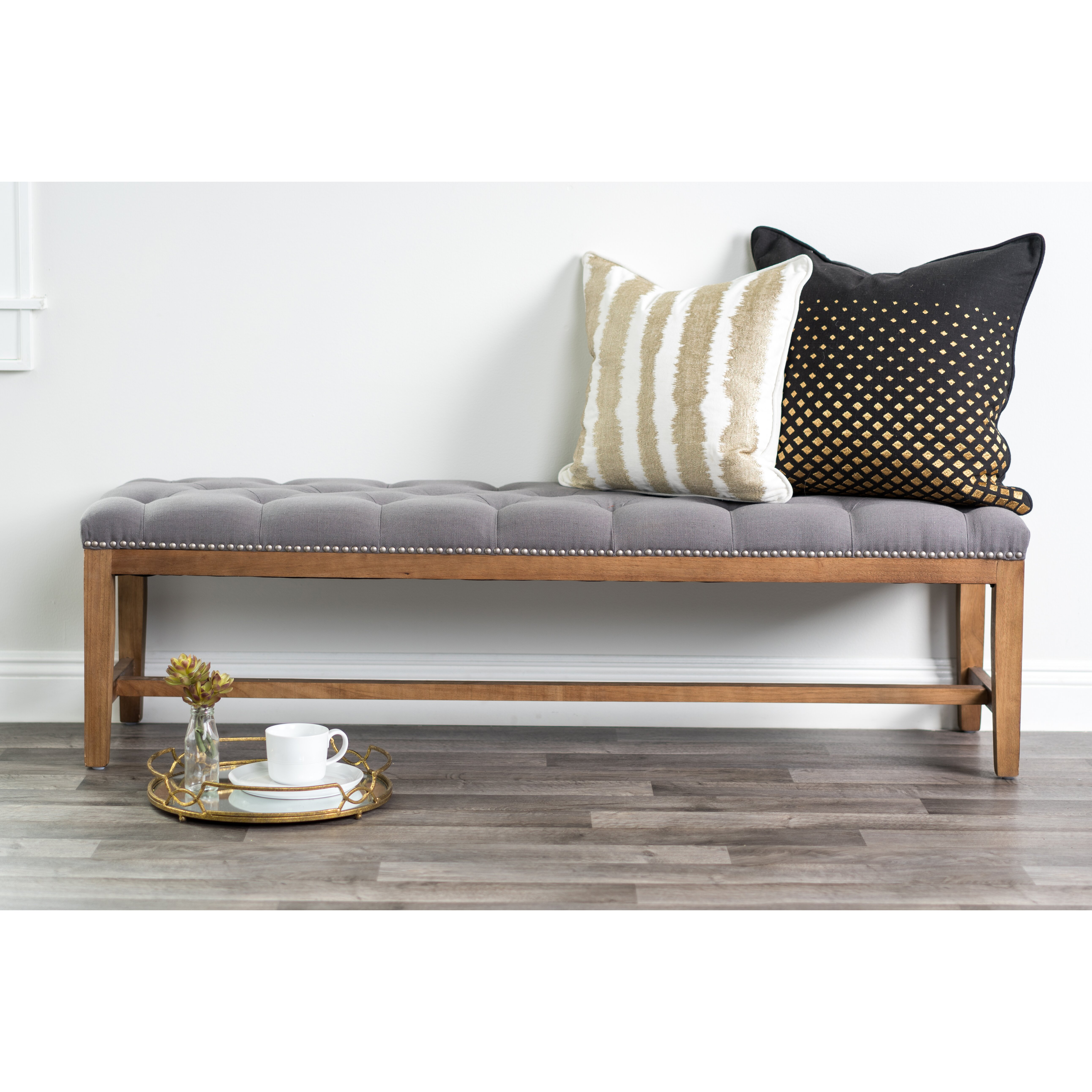 Upholstered Foyer Bench : Bungalow rose viaan upholstered entryway bench wayfair