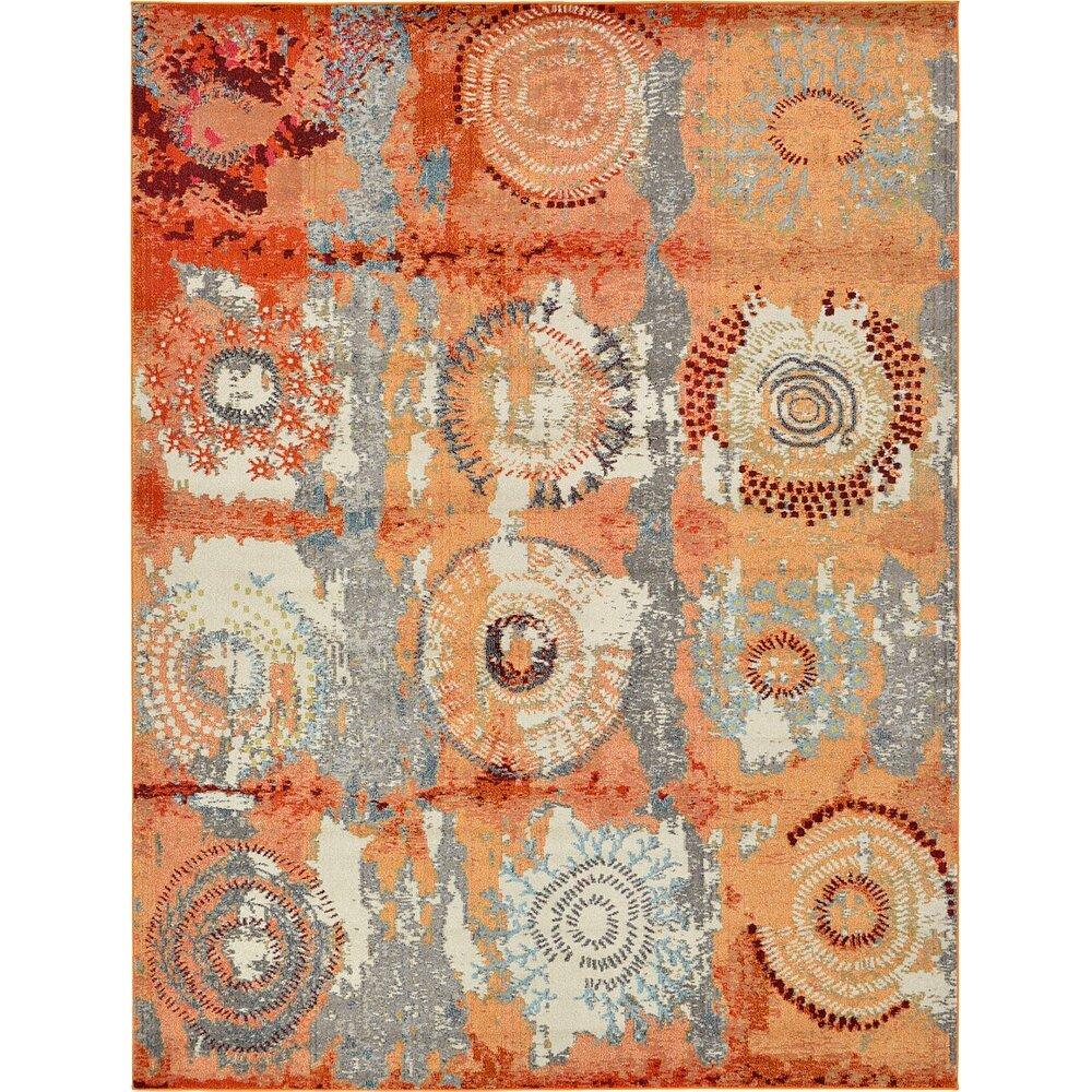 Bungalow Rose Roshan Orange Area Rug & Reviews