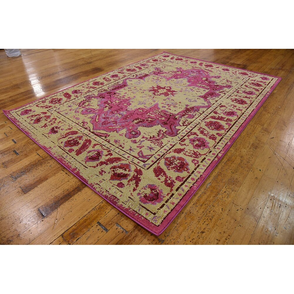 Bungalow Rose Aquarius Pink/Beige Area Rug & Reviews