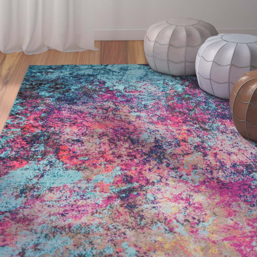 Bungalow Rose Pink Blue Area Rug Amp Reviews Wayfair Ca