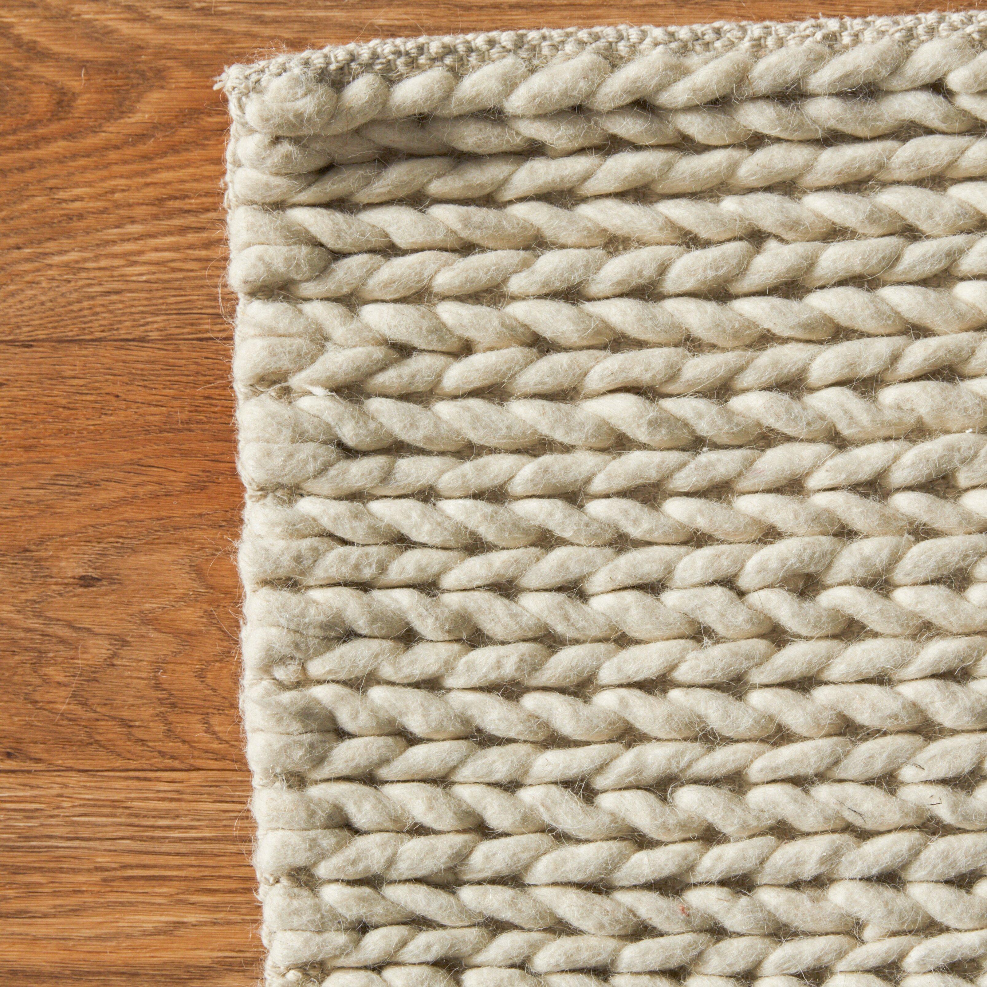 Bungalow Rose Zayan Meika Ivory Chunky Wool Cable Area Rug  : Bungalow Rose Zayan Meika Ivory Chunky Wool Cable Area Rug BNGL4797 from www.wayfair.com size 3212 x 3212 jpeg 3141kB