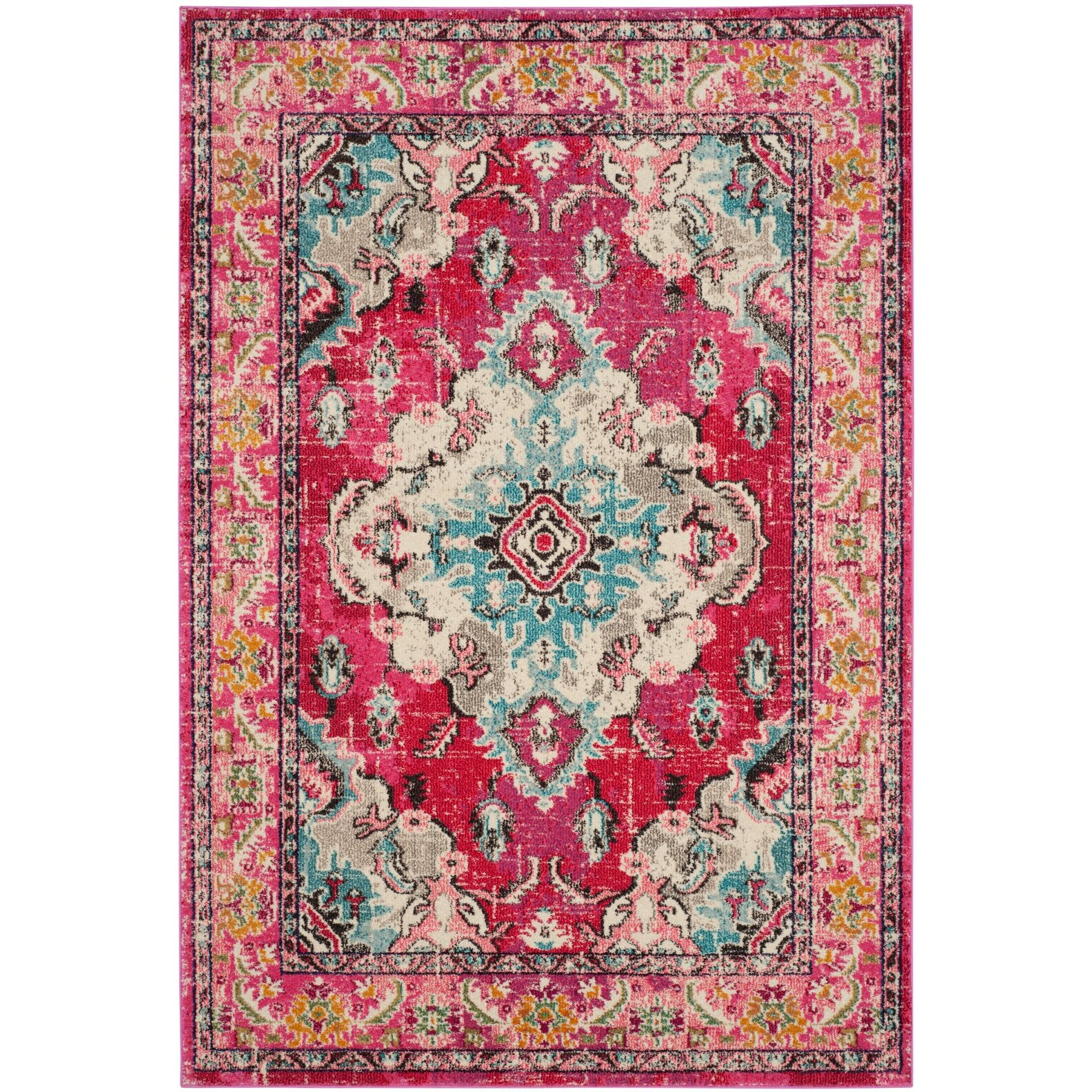 Bungalow Rose Crosier Pink Area Rug & Reviews