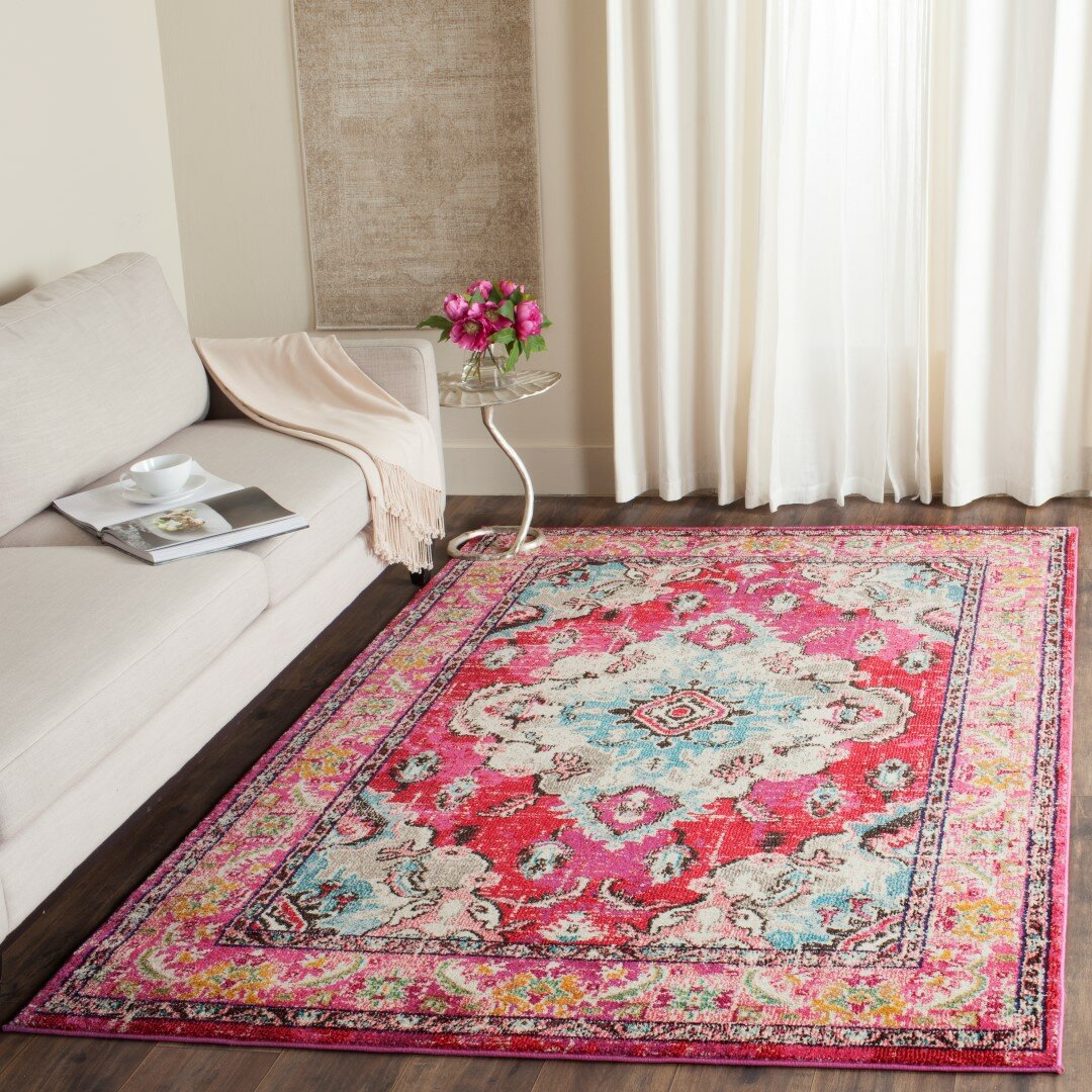 Bungalow Rose Crosier Pink Area Rug Amp Reviews Wayfair