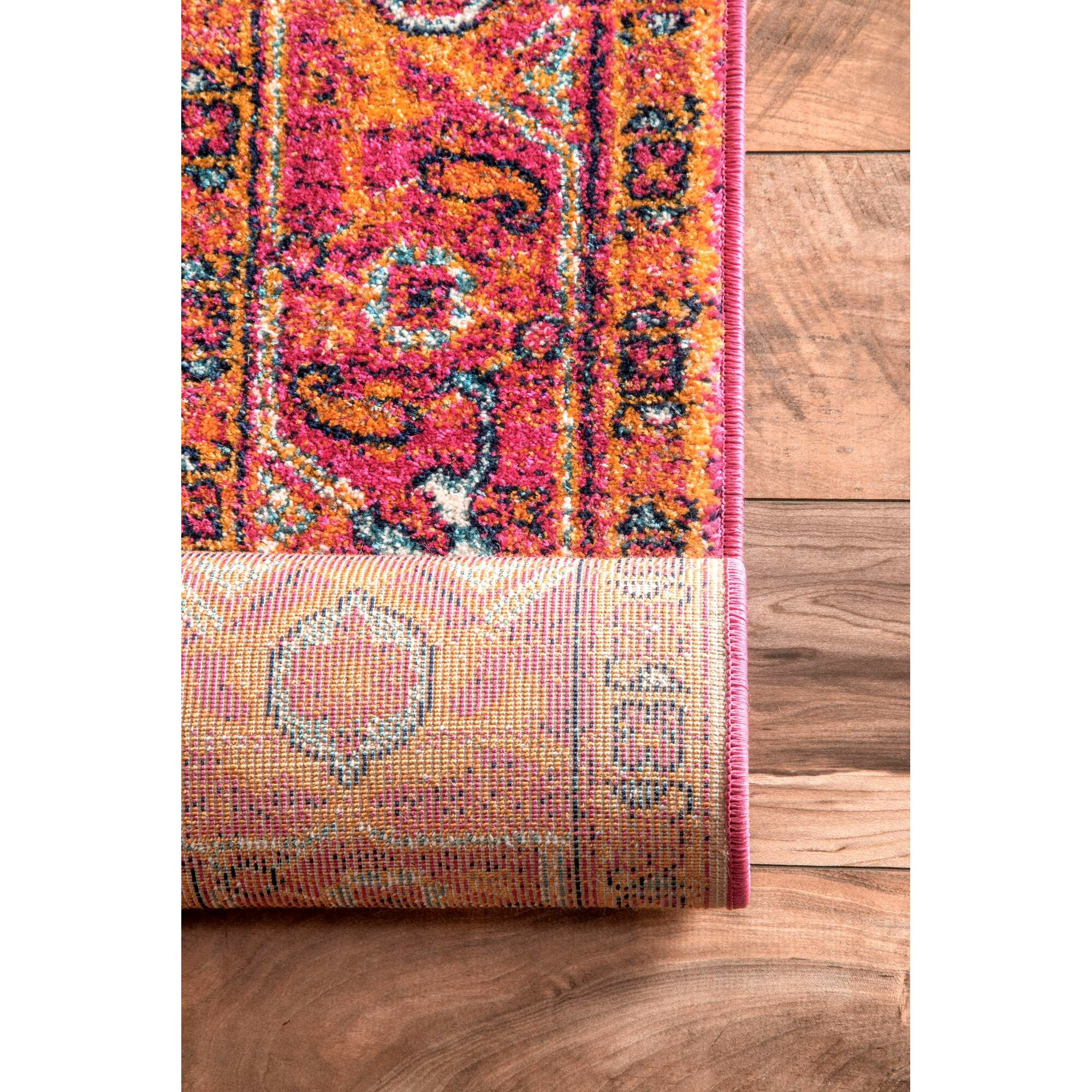 Bungalow Rose Barksdale Blooming Multi-Colored Area Rug
