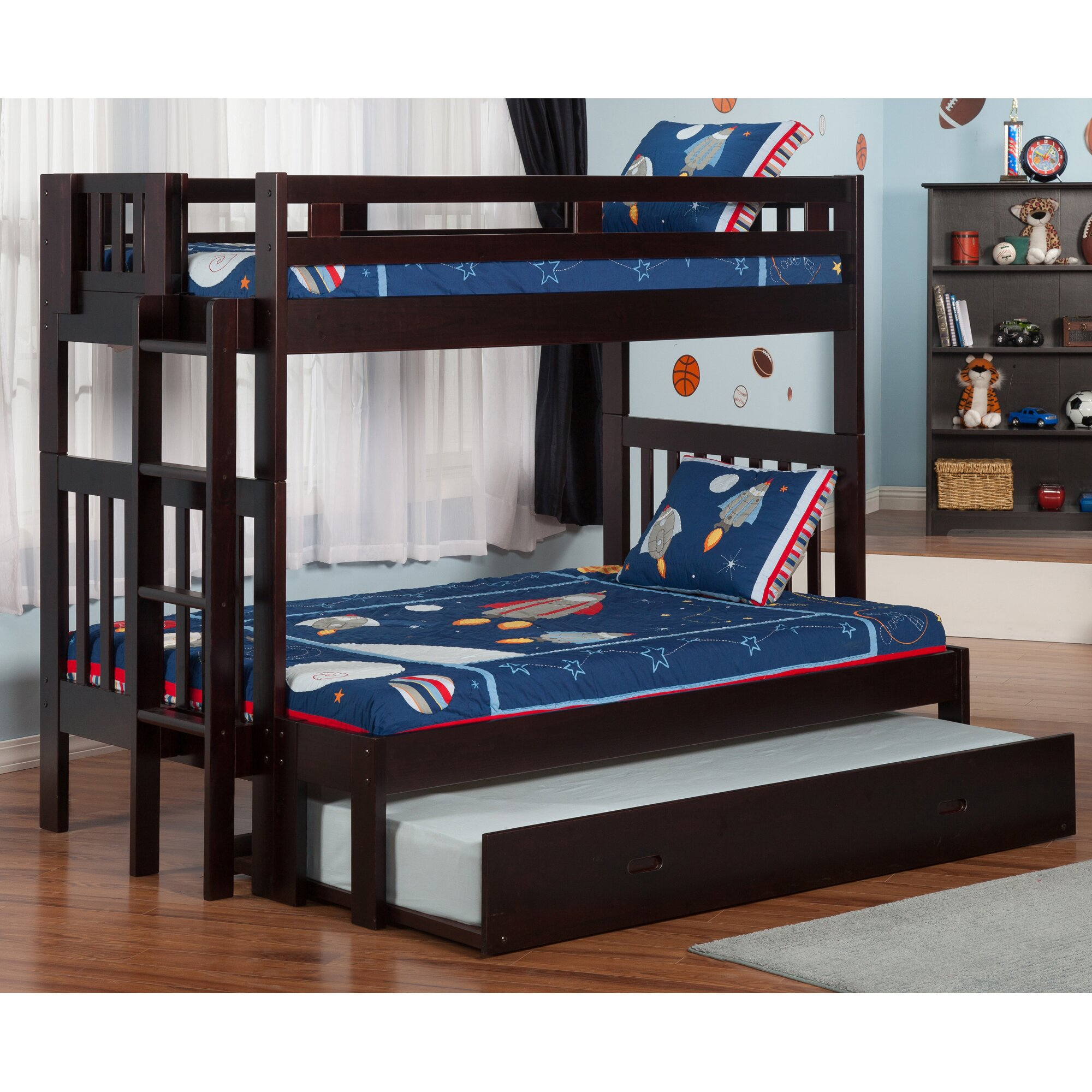 Viv Rae Edd Twin Over Full Bunk Bed With Trundle
