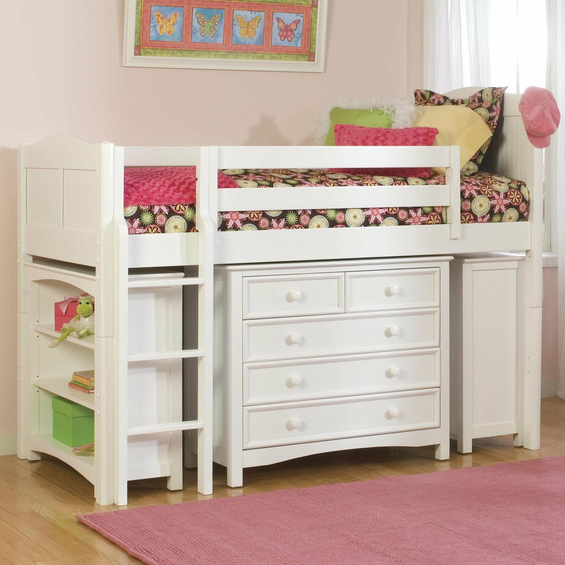Loft Bed: Viv + Rae David Twin Low Loft Bed With Bookcase And