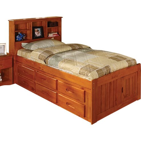 viv rae kaitlyn captain twin storage bookcase bed with trundle reviews wayfair. Black Bedroom Furniture Sets. Home Design Ideas