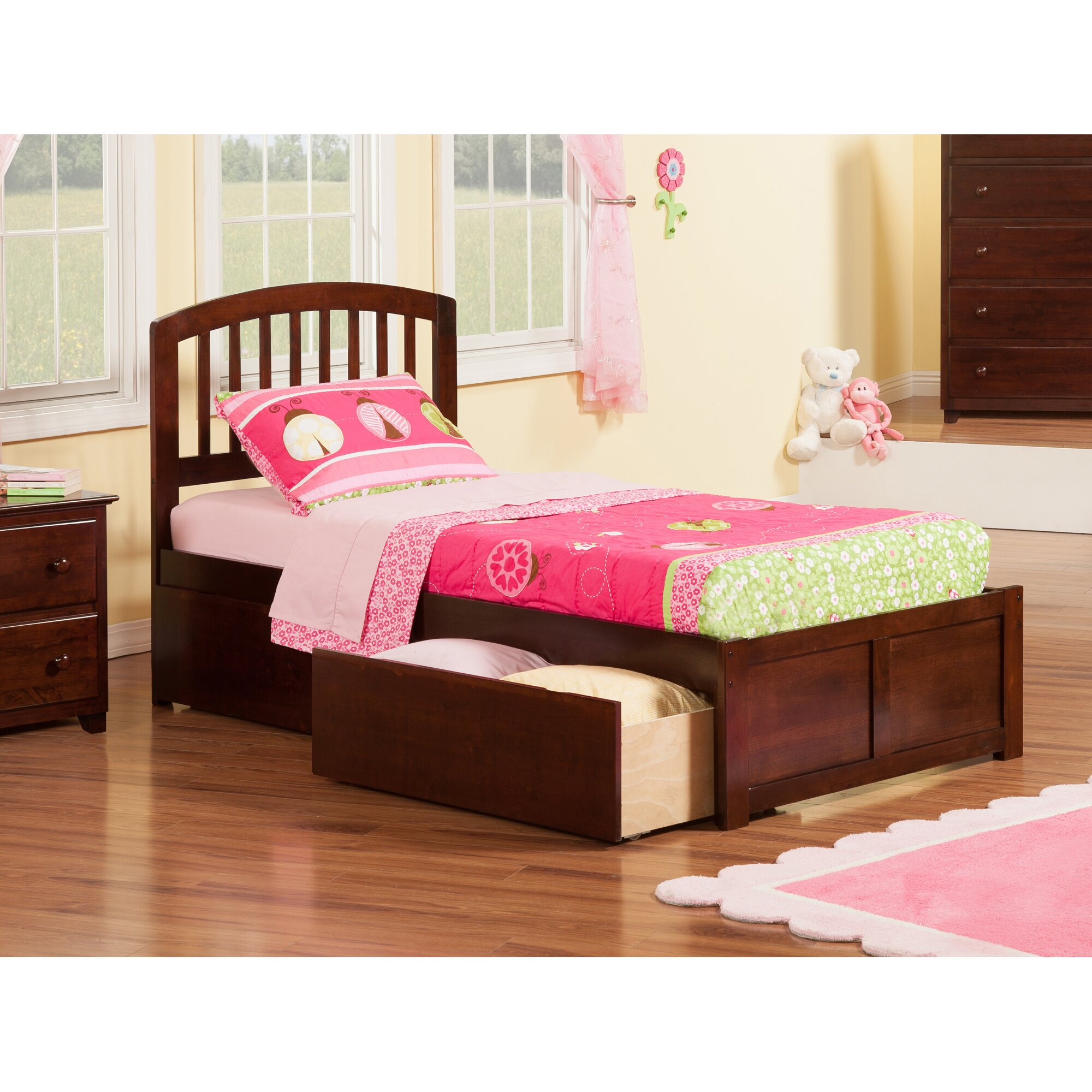Viv Rae Timmy Extra Long Twin Slat Bed With Storage