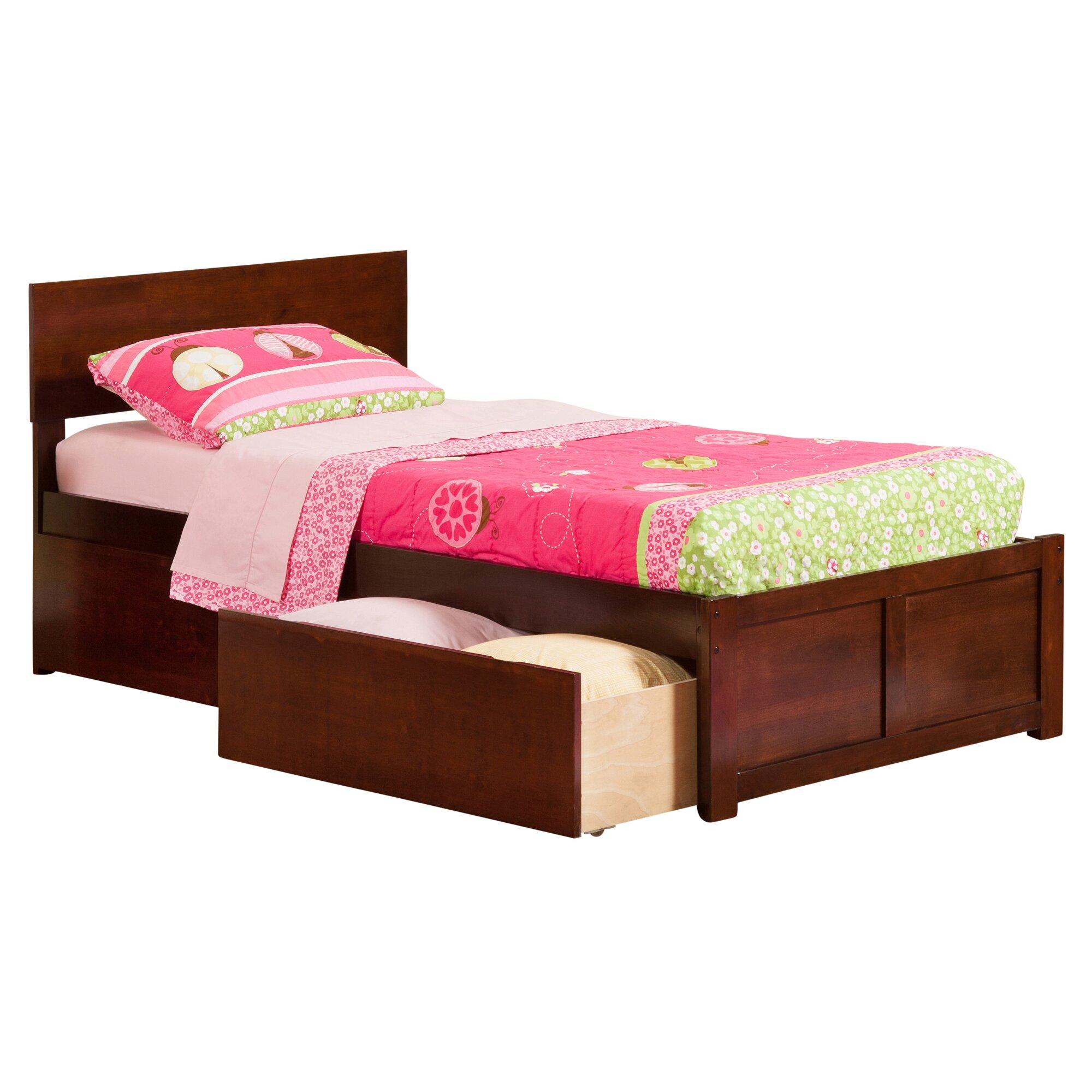 Viv Rae Mathias Extra Long Twin Panel Bed With Storage