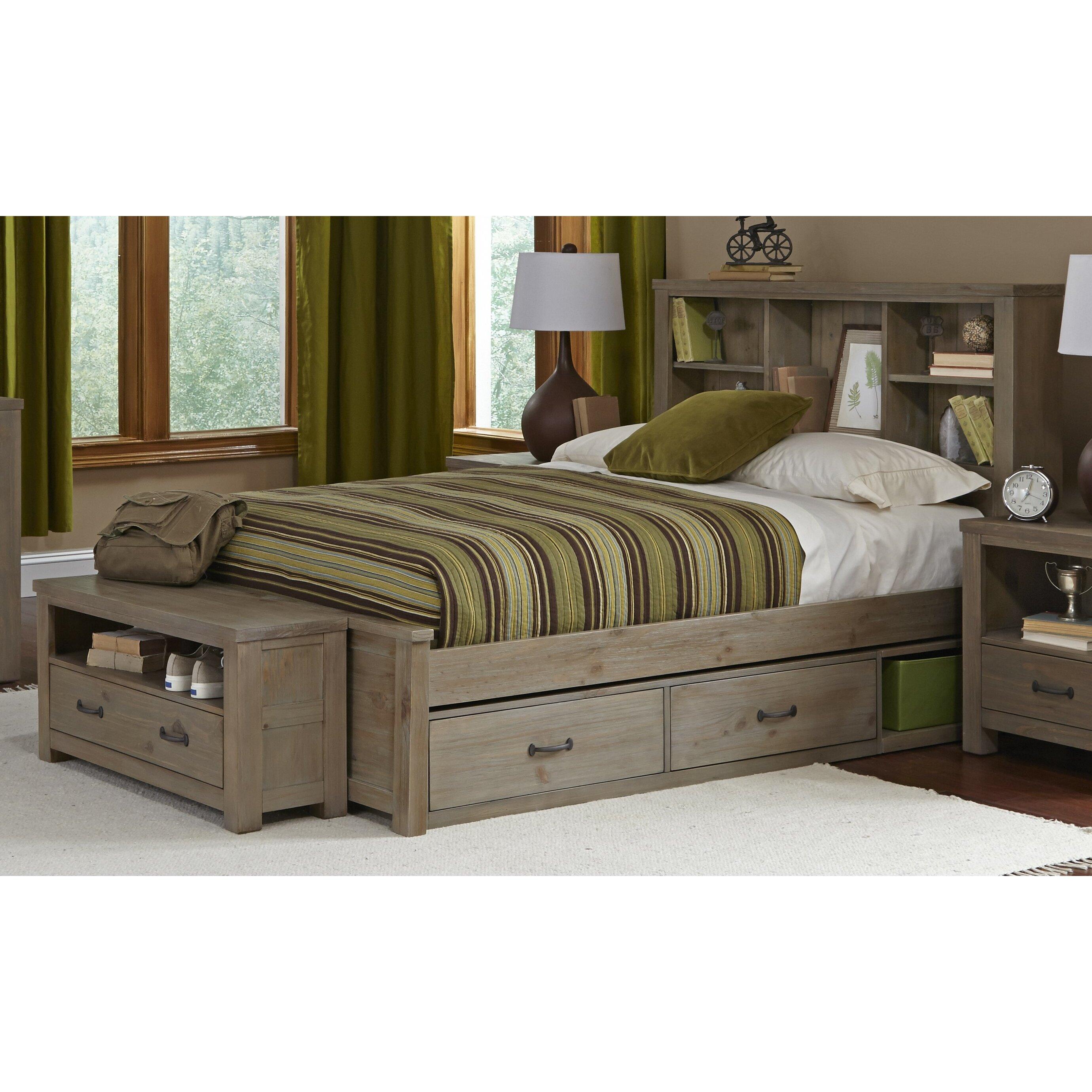 viv rae wilbur platform bed with bookcase wayfair. Black Bedroom Furniture Sets. Home Design Ideas