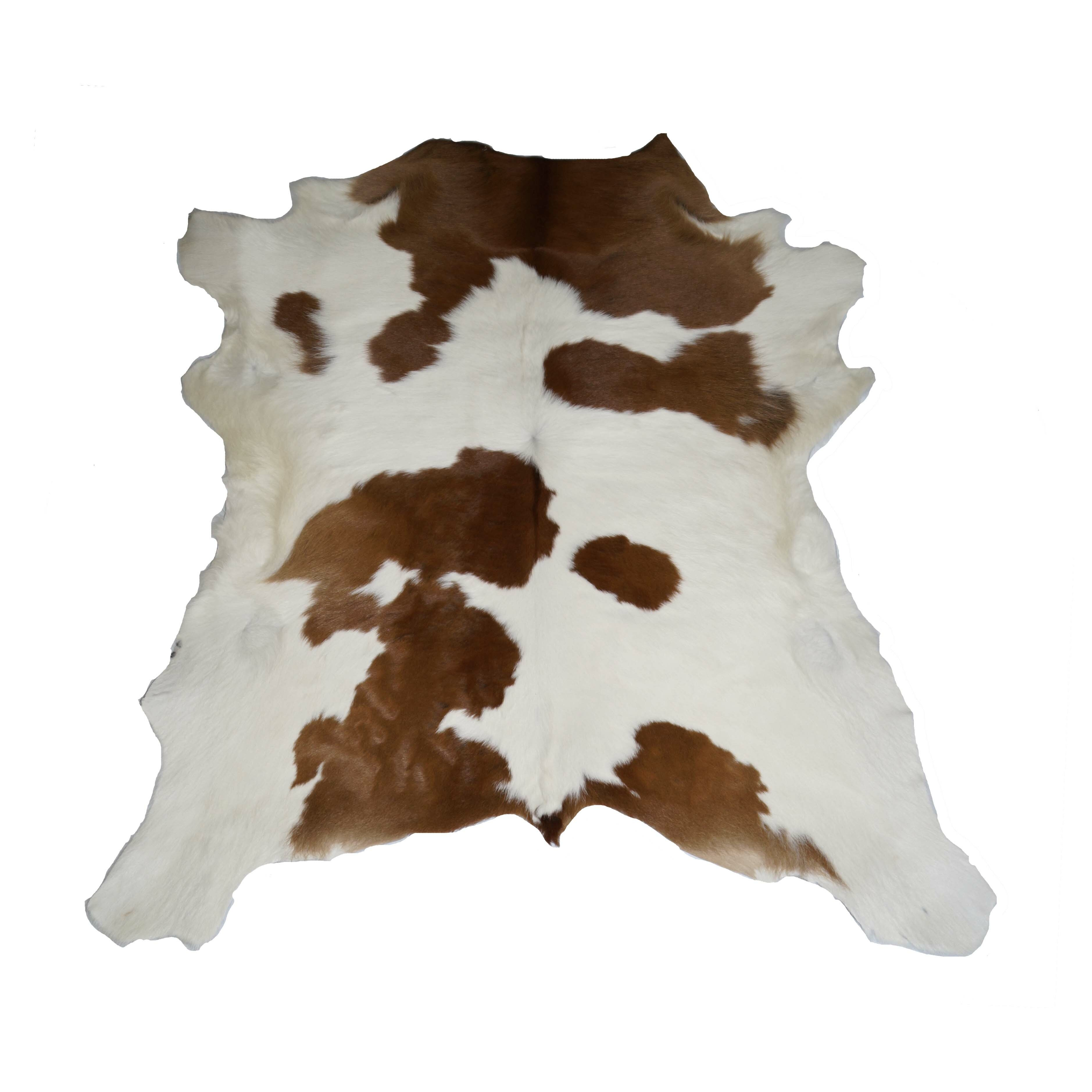 Bs trading designer cowhides brown and white calf skin for Designer cowhide rugs