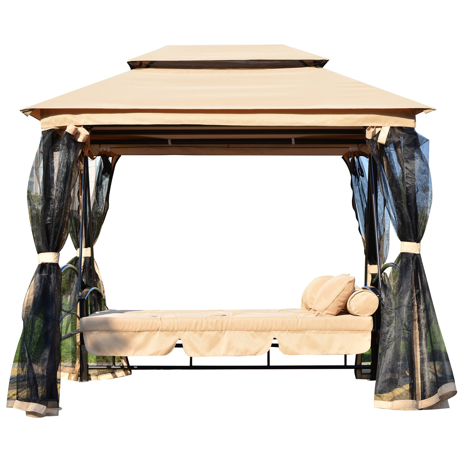 Outsunny Patio Porch Swing Canopy Reviews Wayfair