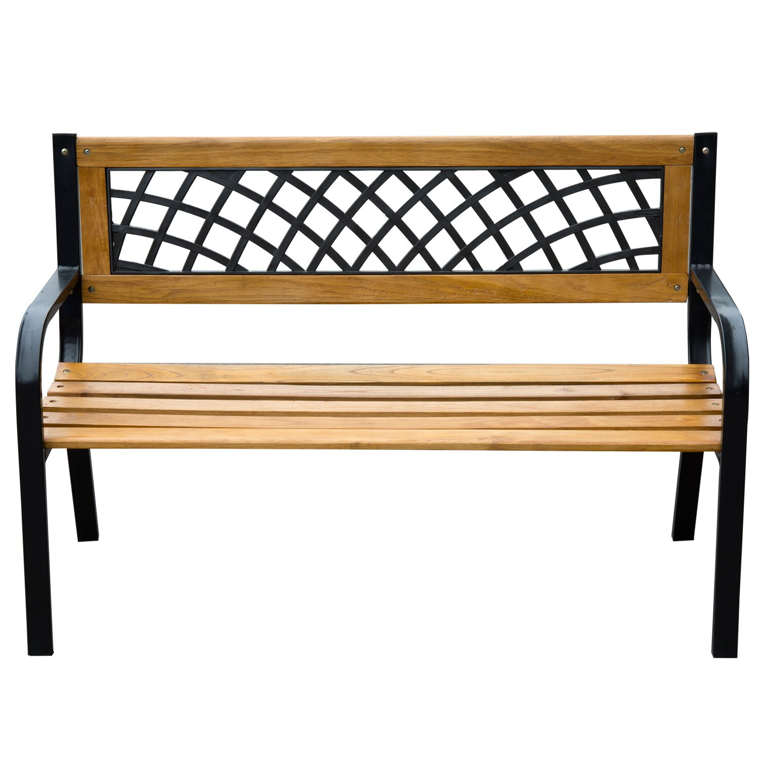 Wooden Park Benches ~ Outsunny modern wood park bench reviews wayfair