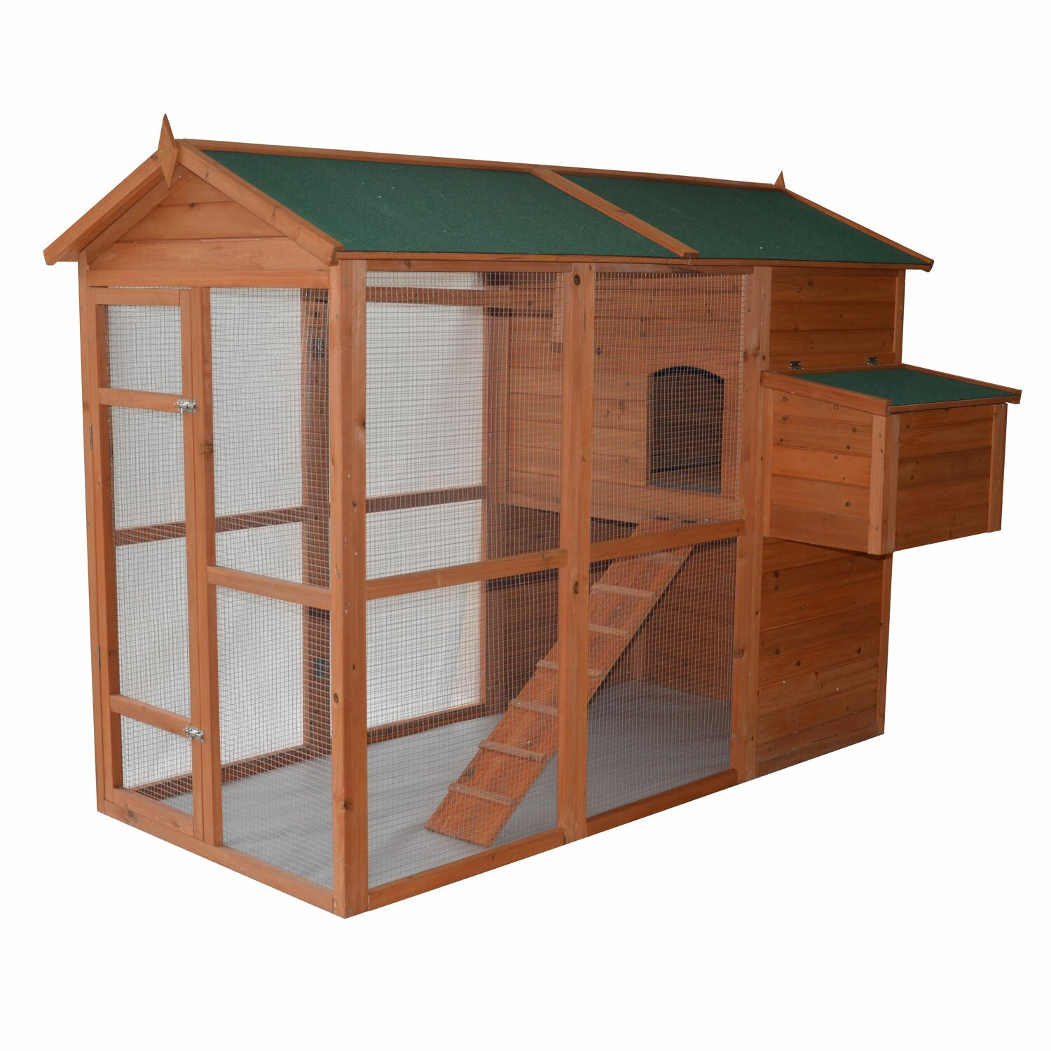 Pawhut Deluxe Large Backyard Chicken Coop Hen House With
