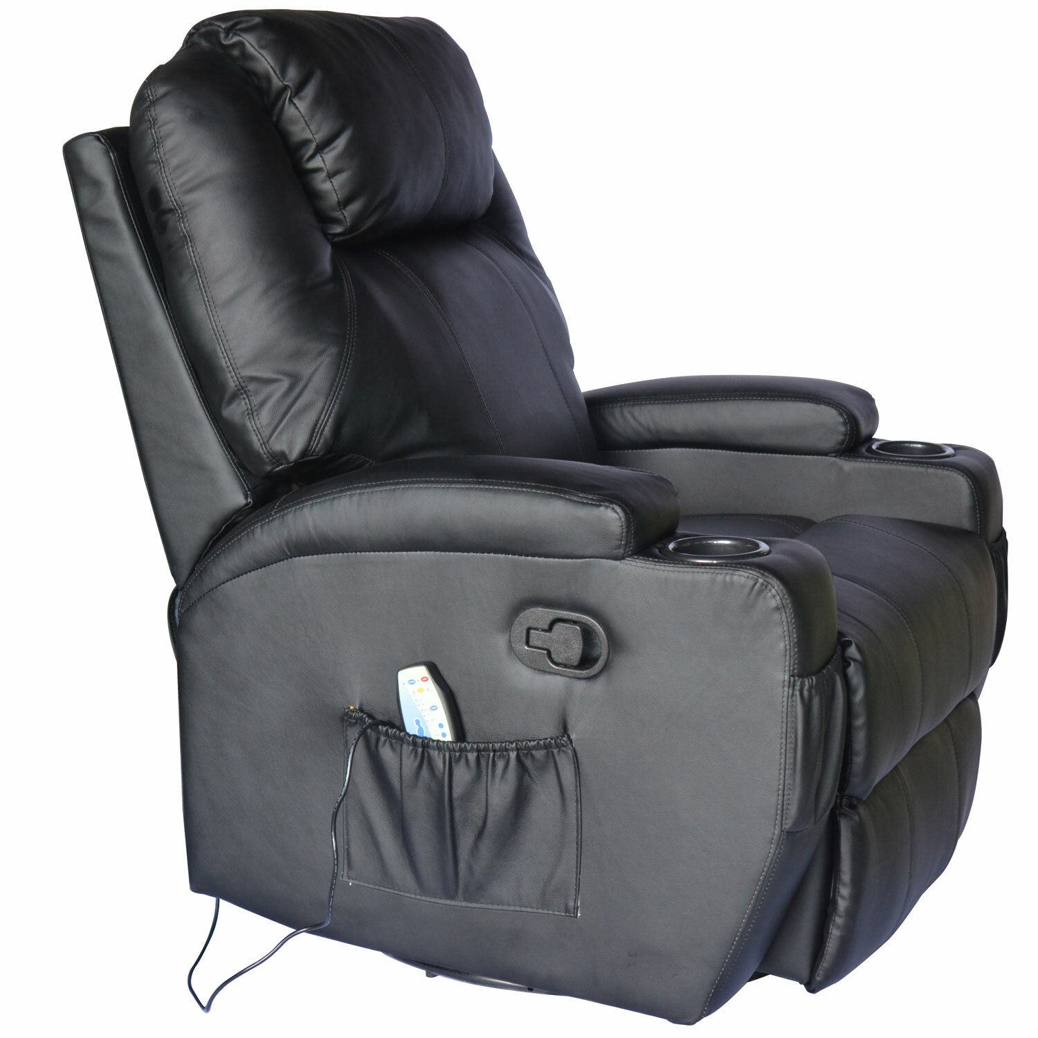 Outsunny Homcom Deluxe Heated Vibrating Vinyl Leather