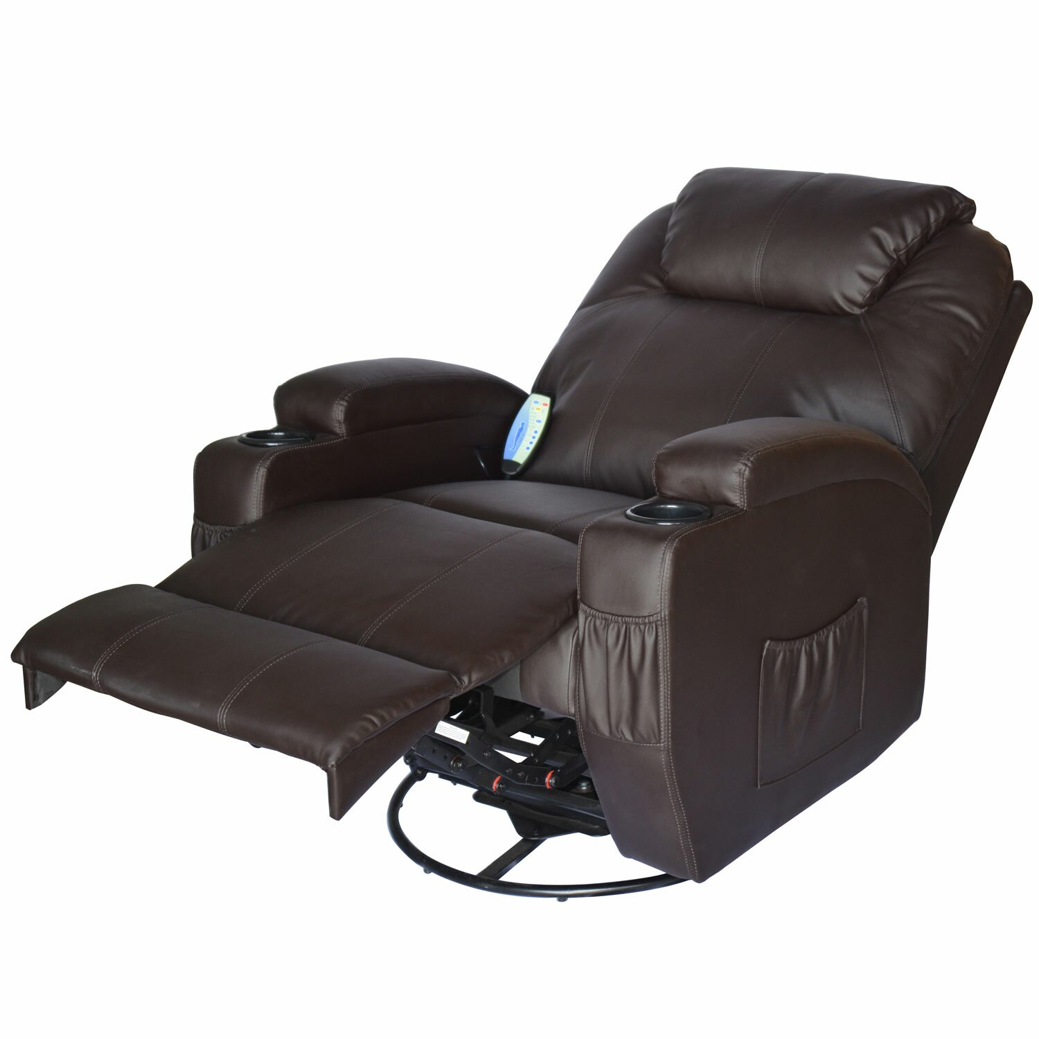 Outsunny HomCom Deluxe Heated Vibrating Vinyl Leather ...